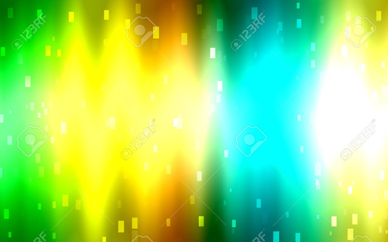 Yellow Orange Green And Blue Colors Abstract Background For