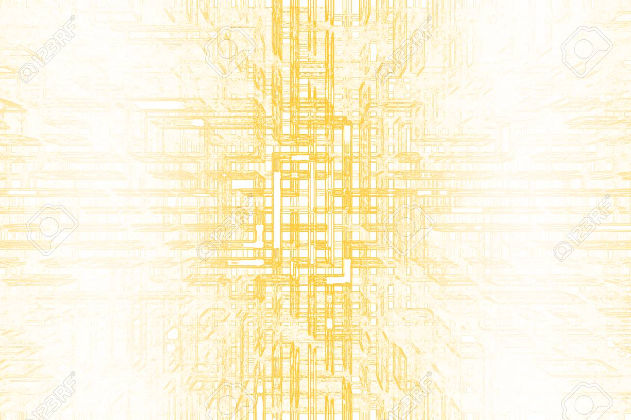 Futuristic Abstract Yellow Background For Design Technology