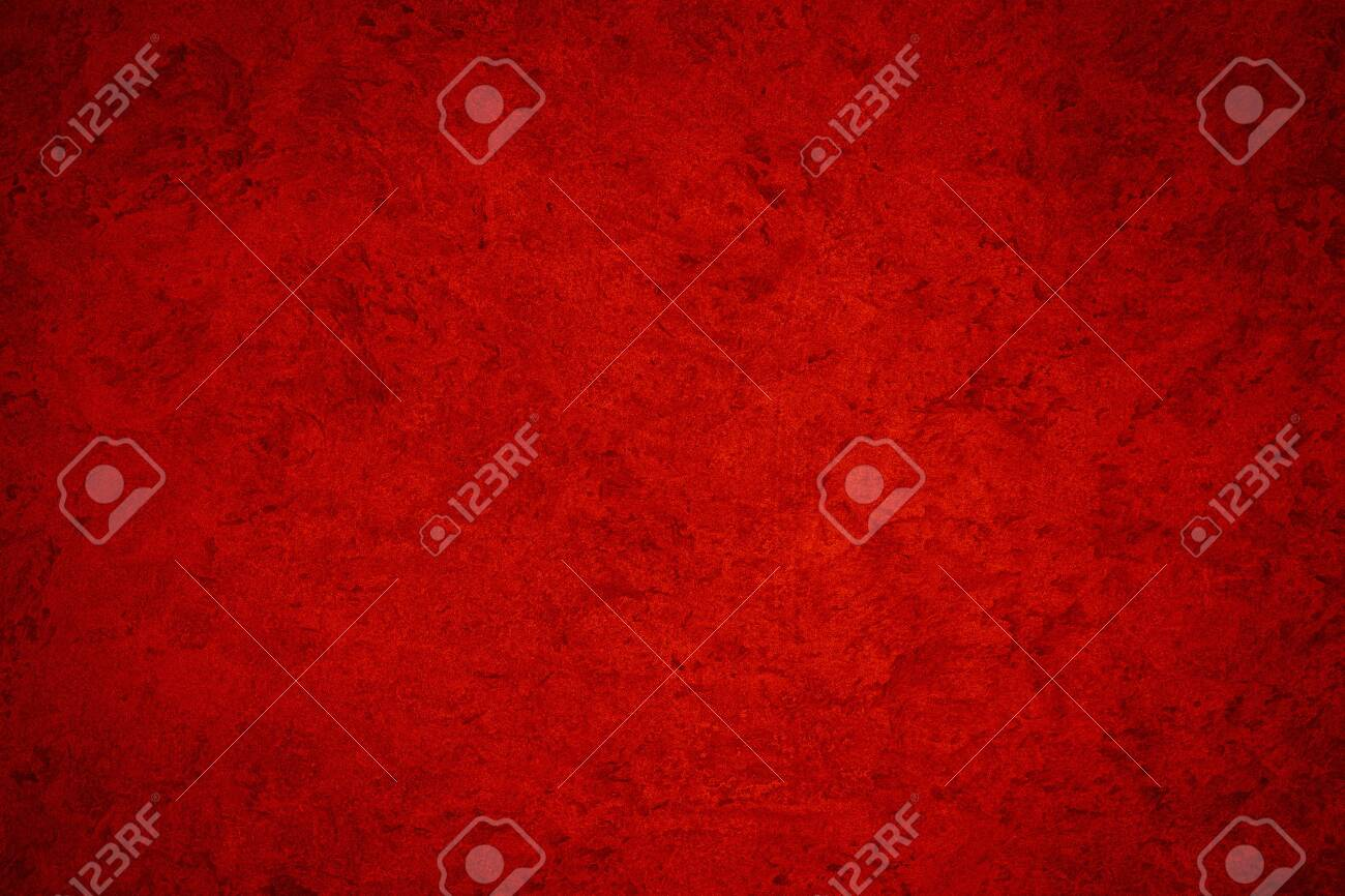 Texture of red decorative plaster or concrete. Abstract background for design. Art stylized banner with copy space for text. - 136894477