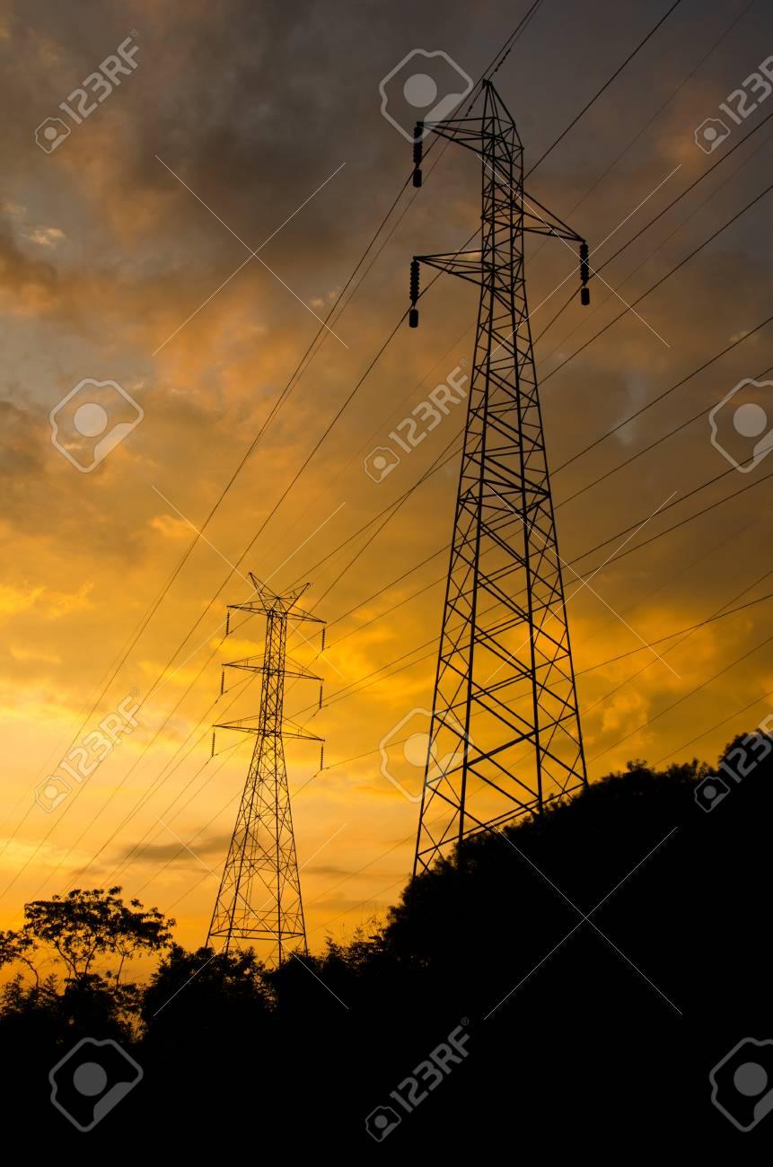 High voltage power pole. Stock Photo - 11791906