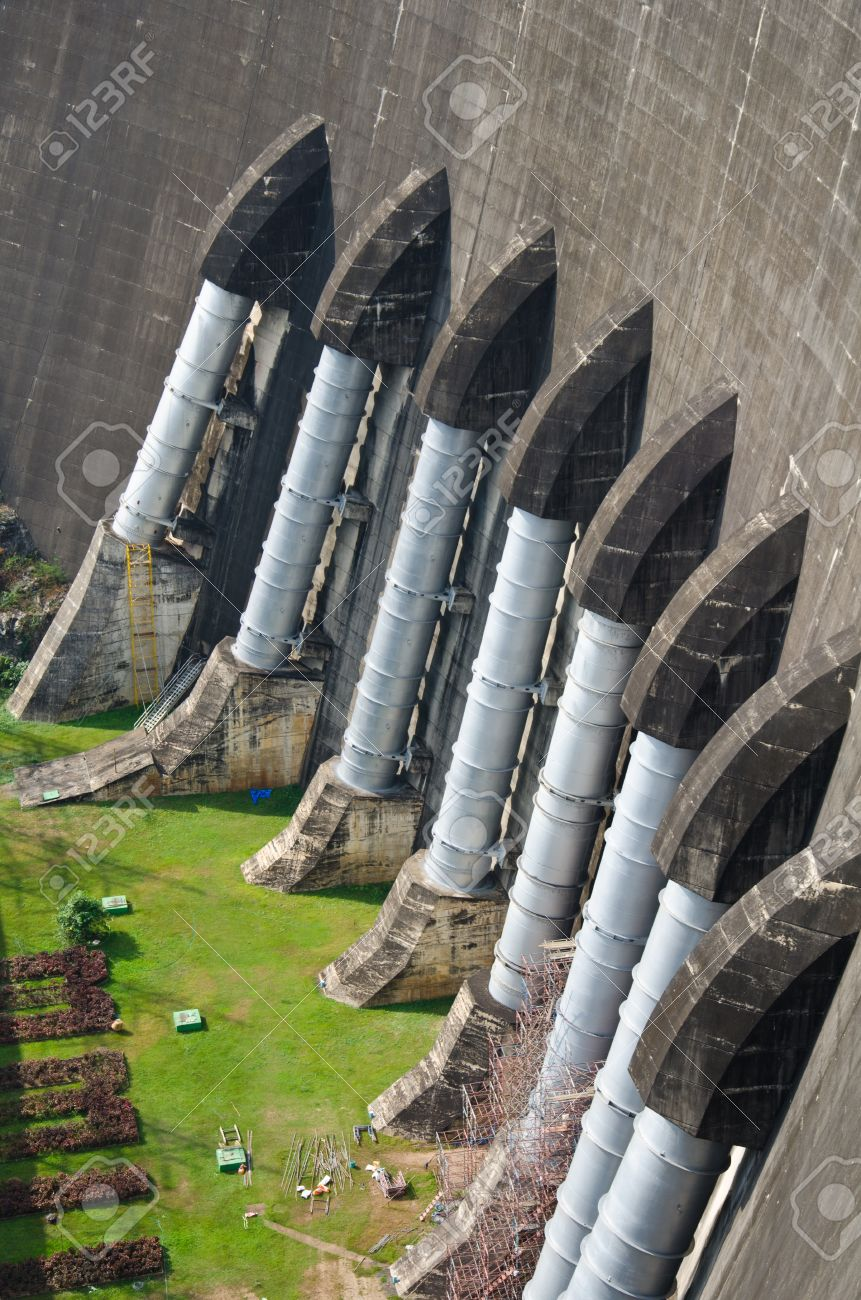 Dam of hydroelectric power station and irrigation. - 11869129