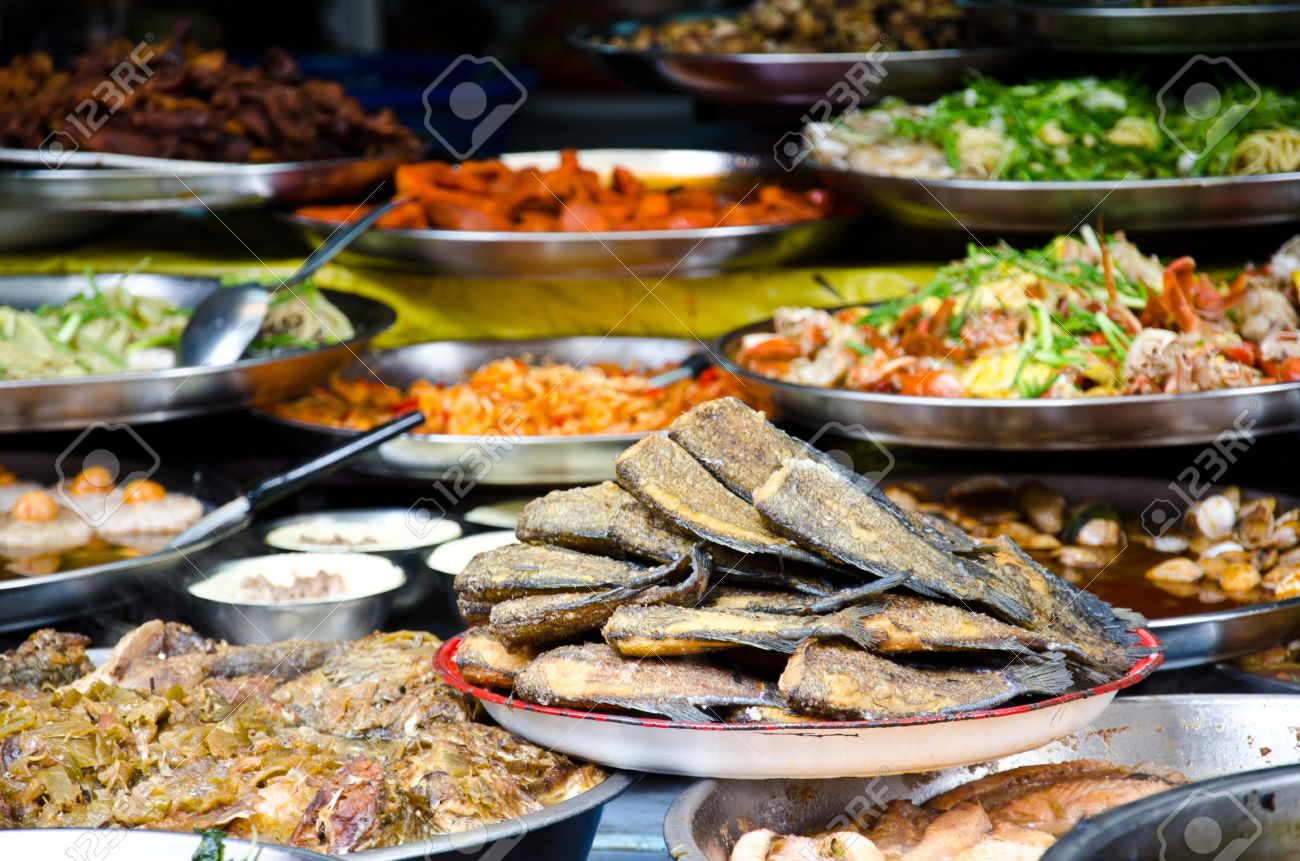 Crispy seasoning Gourami fish Fry  thai food Stock Photo - 13085116