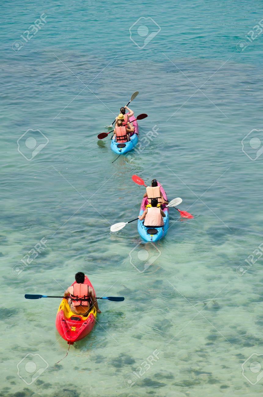 traveler kayaking in the Gulf of Thailand Stock Photo - 13193721