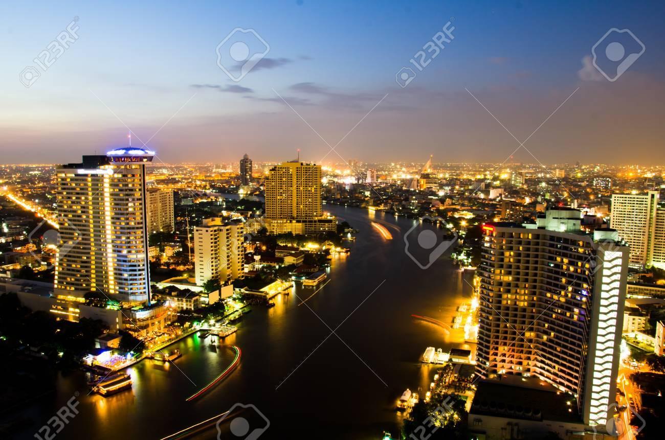 Bangkok City in twilight, Thailand. - 16108530