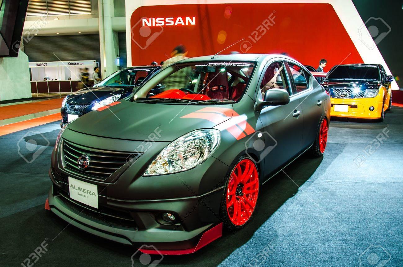 Bangkok June 20 Nissan Almera Car On Display At Bangkok International Stock Photo Picture And Royalty Free Image Image 20399916