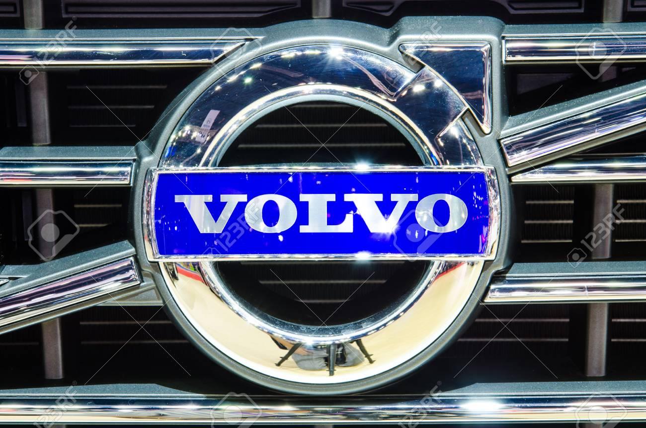 BANGKOK - MARCH 25 Logo of Volvo XC60 car on display at The