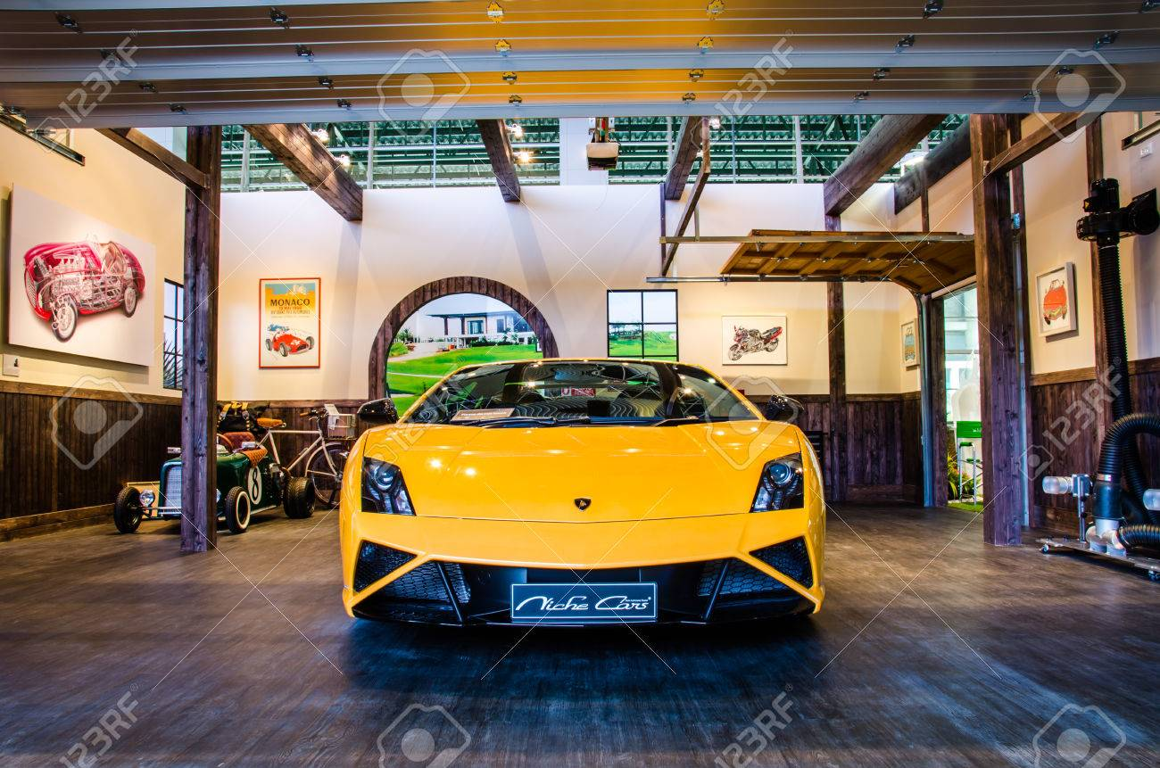 Bangkok March 25 Lamborghini Gallardo Lp560 4 Car On Display