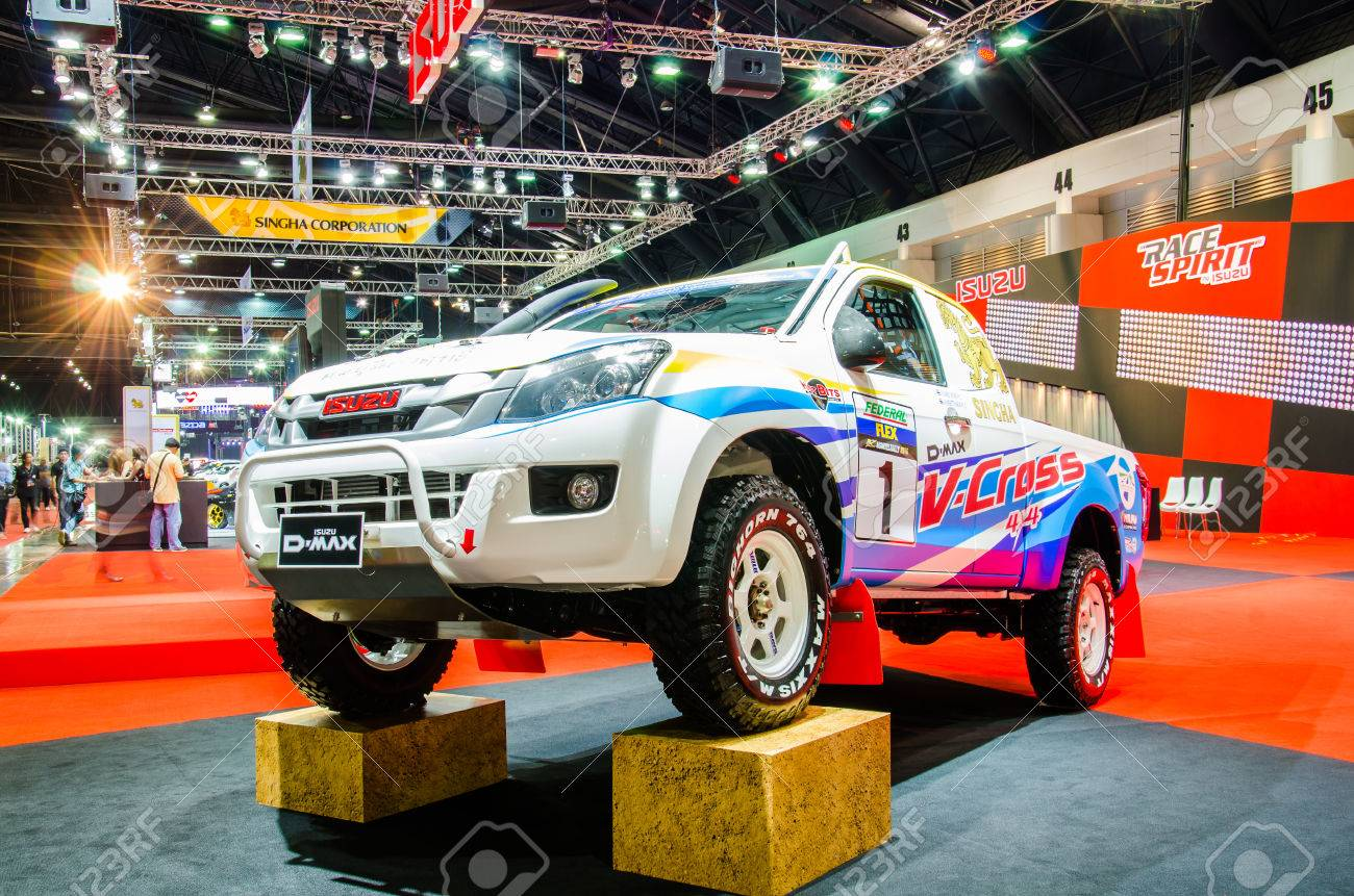 Nonthaburi June 24 Isuzu D Max V Cross 4x4 Pickup On Display Stock Photo Picture And Royalty Free Image Image 41829739