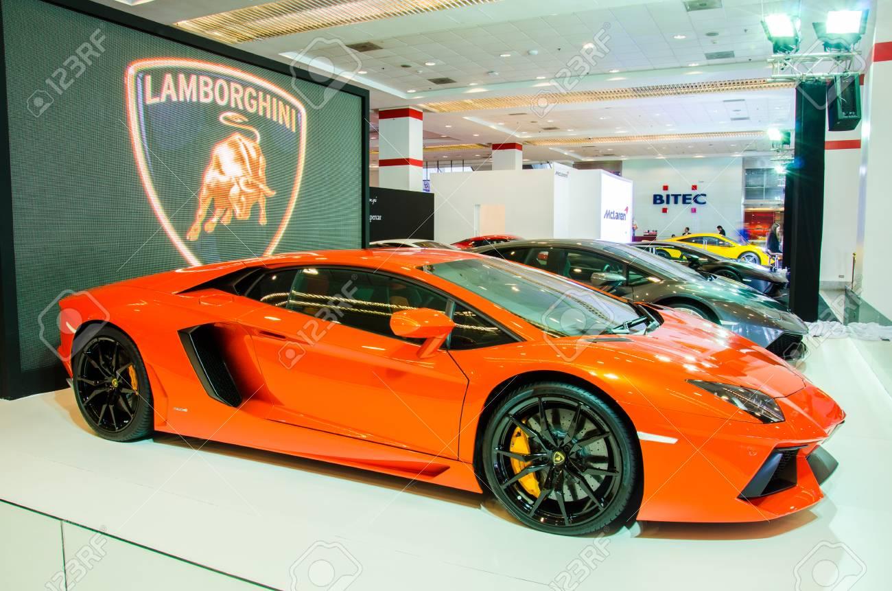 Bangkok August 1 Lamborghini Gallardo Lp 550 2 On Display