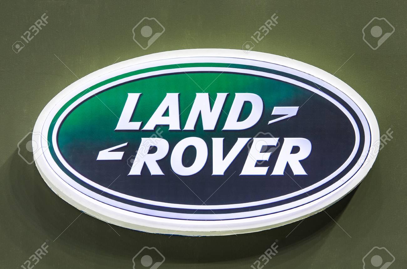Bangkok August 1 Logo Of Land Rover On Display At Bangkok