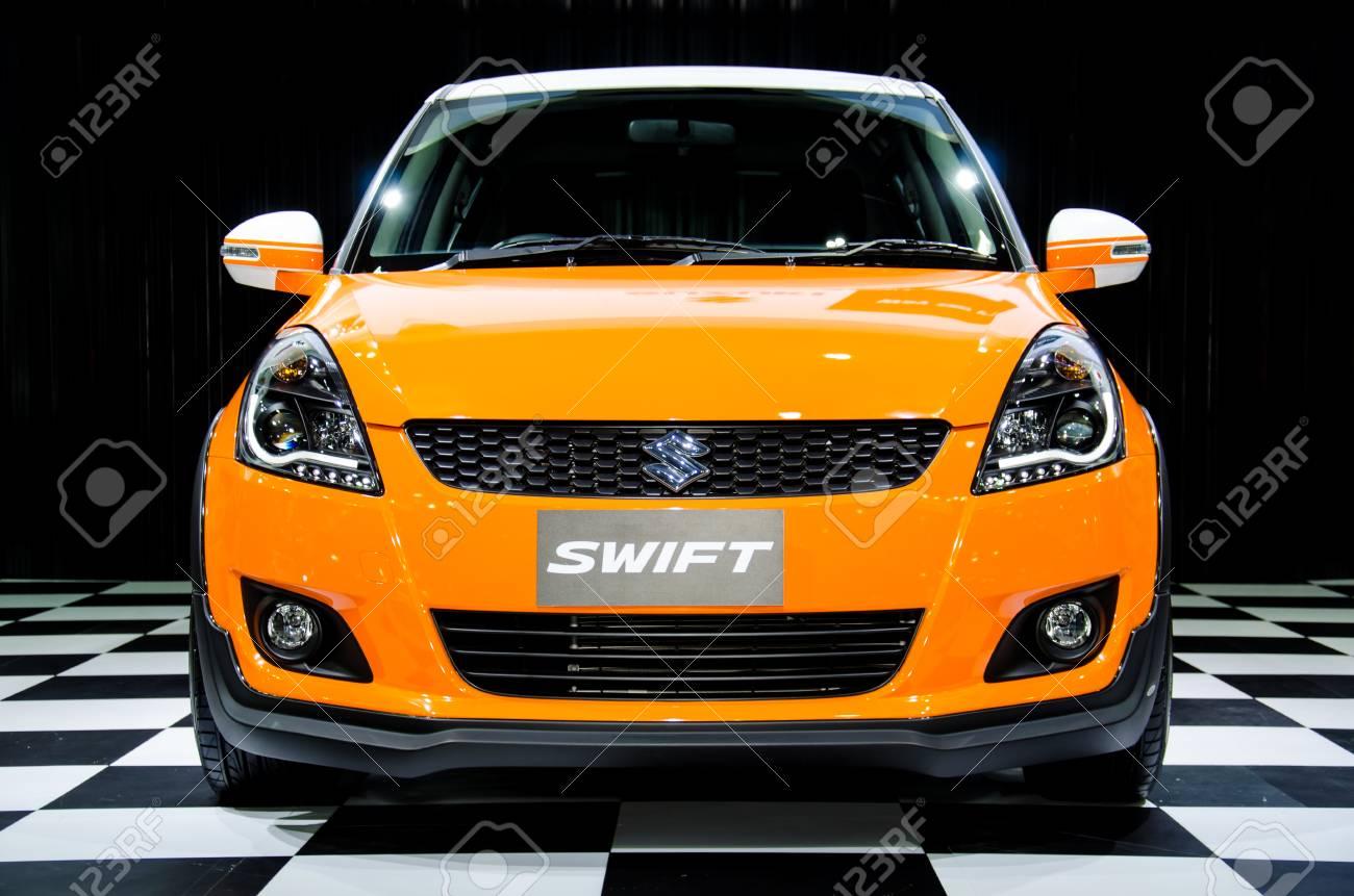 NONTHABURI - JUNE 22 : Suzuki Swift car on display at Bangkok