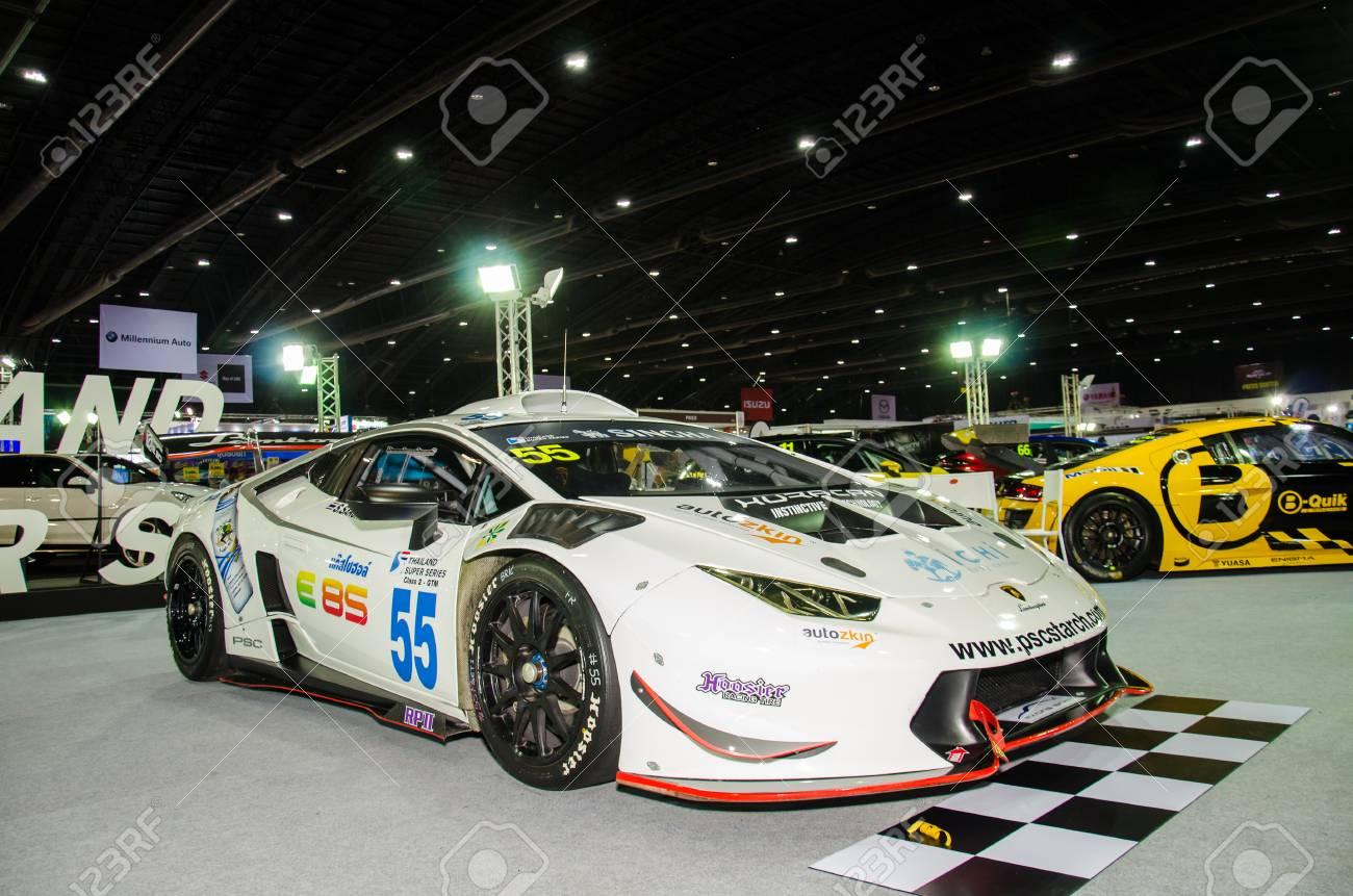 Nonthaburi June 22 Lamborghini Car On Display At Bangkok Stock