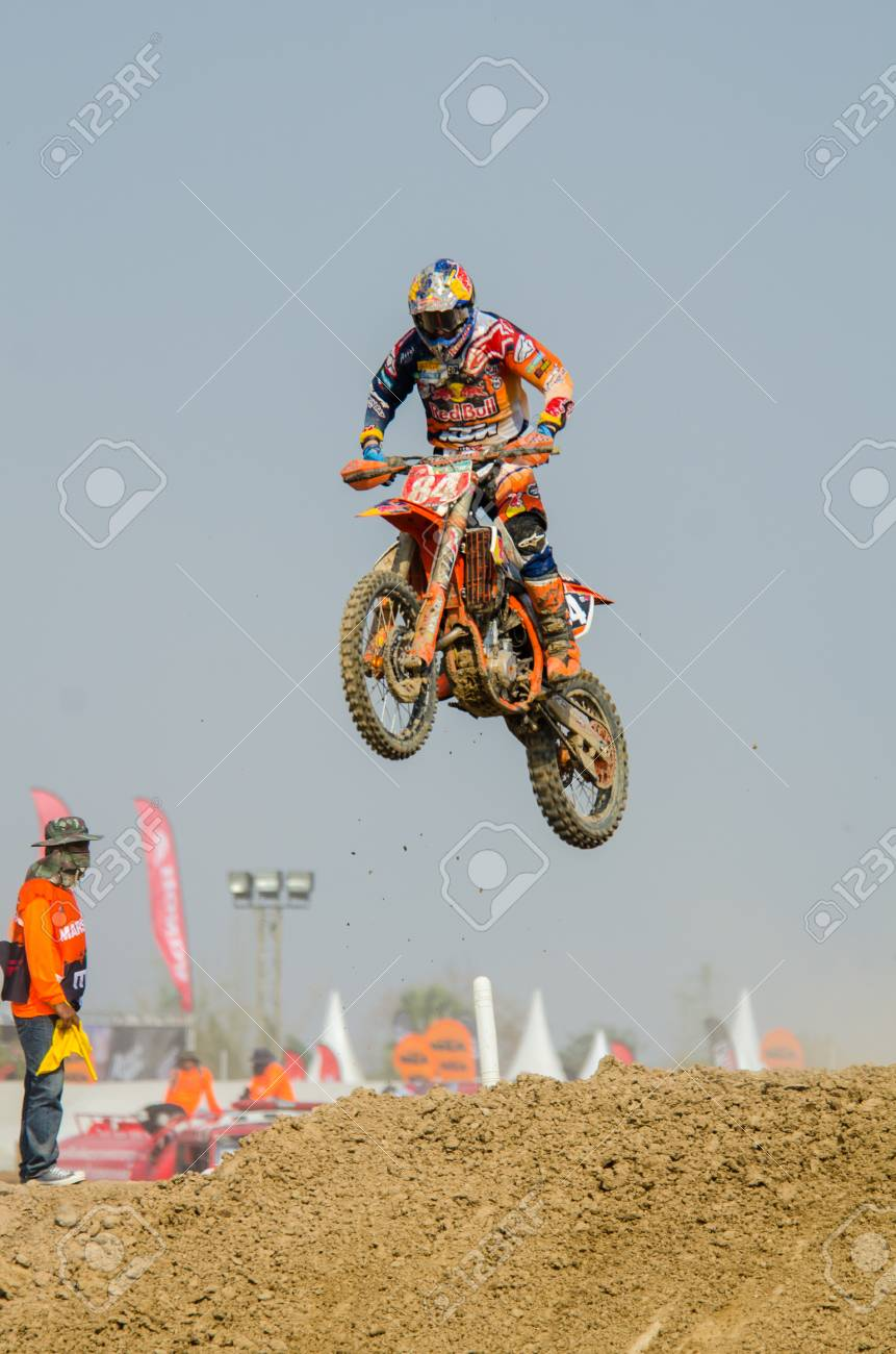 Suphanburi March 06 Jeffrey Herlings 84 With Ktm Motorcycle