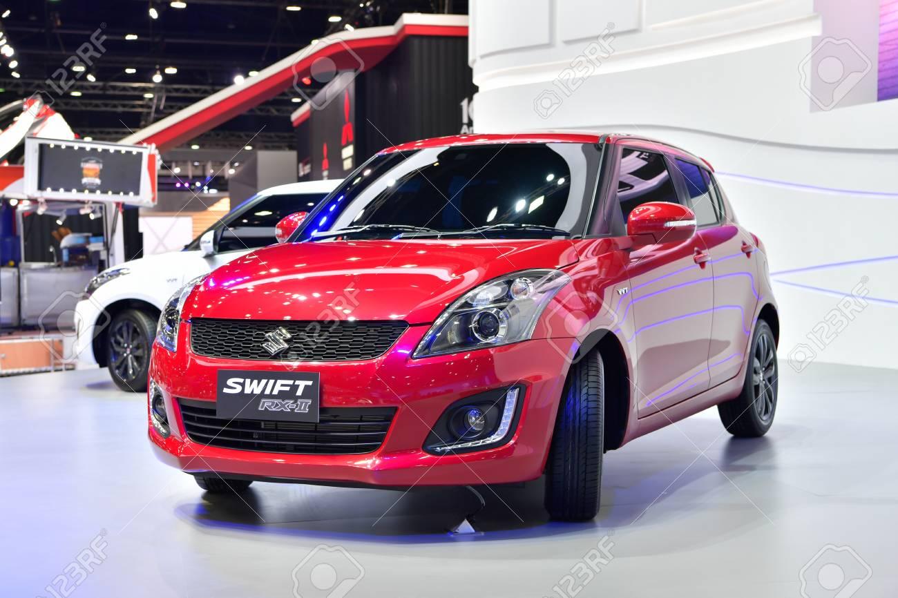 NONTHABURI - MARCH 28: Suzuki Swift RX-II on display at The 38th