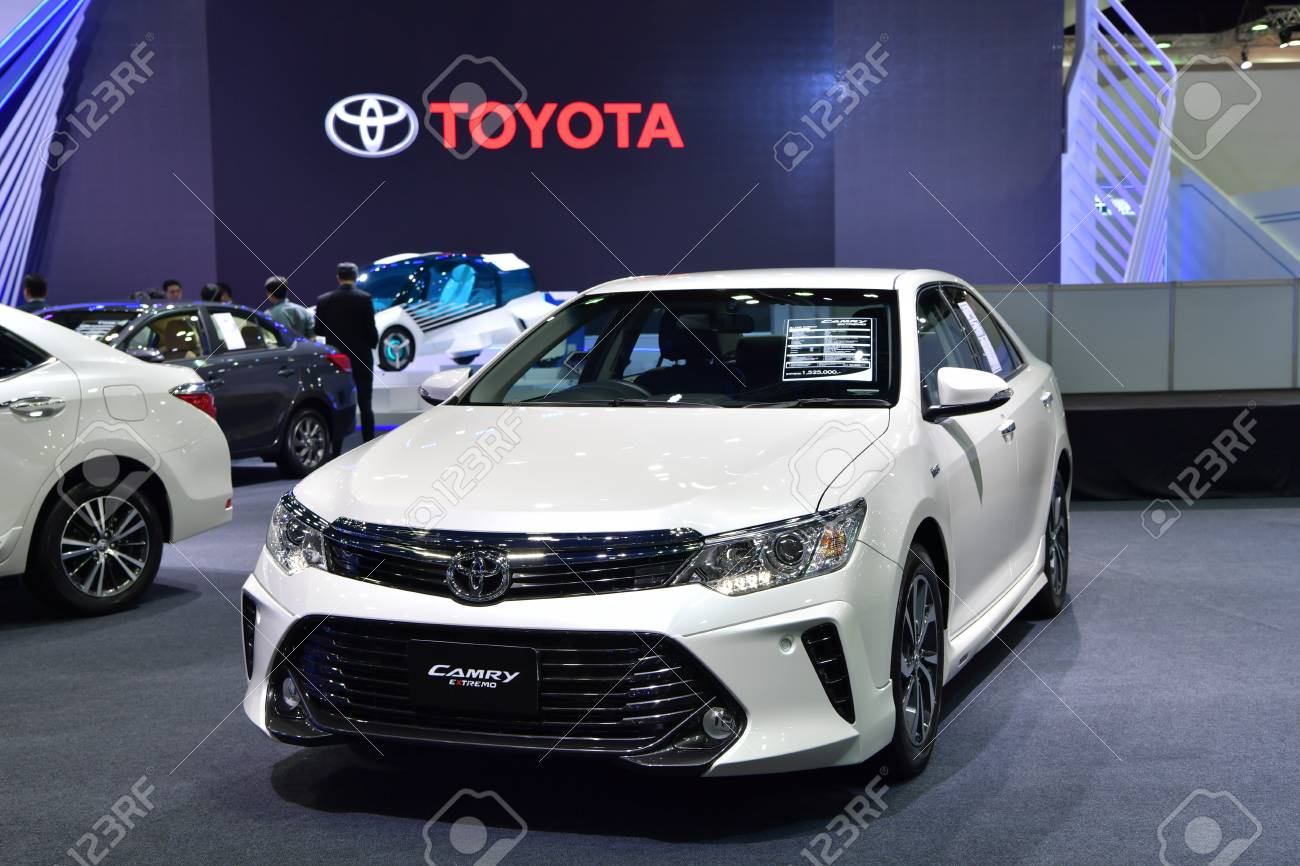 NONTHABURI - MARCH 28: Toyota Camry Extremo car on display at