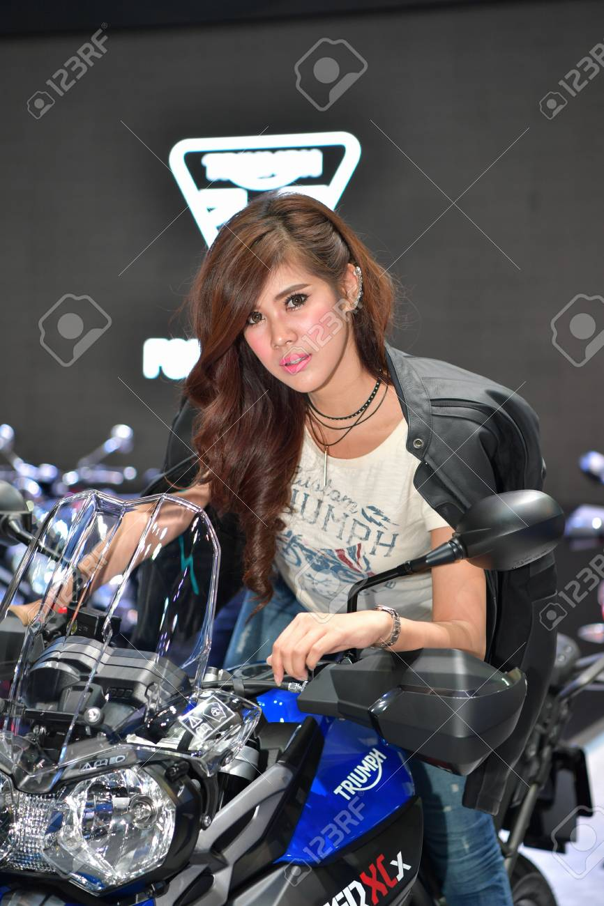 Nonthaburi March 28 Triumph Tiger 800 Xcx Motorcycle With Stock