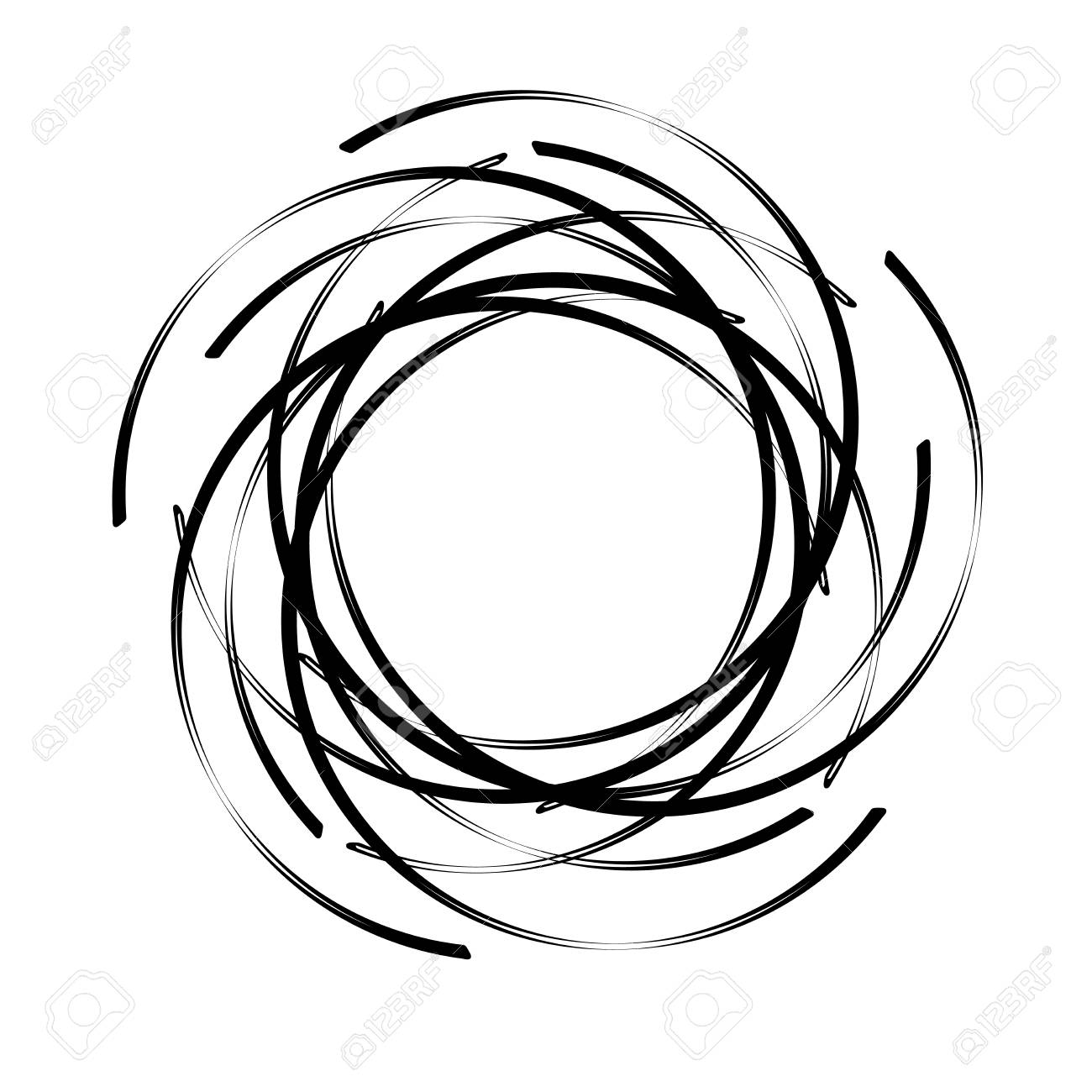 abstract round spiral template for the logo black blob to create