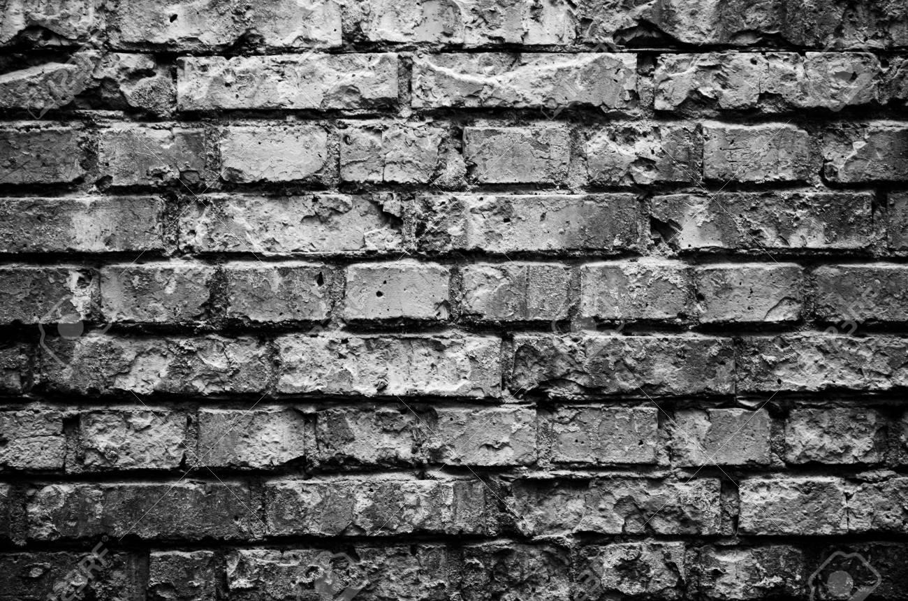 Old Brick Wall Background Black Wallpaper Rough Brick Wall