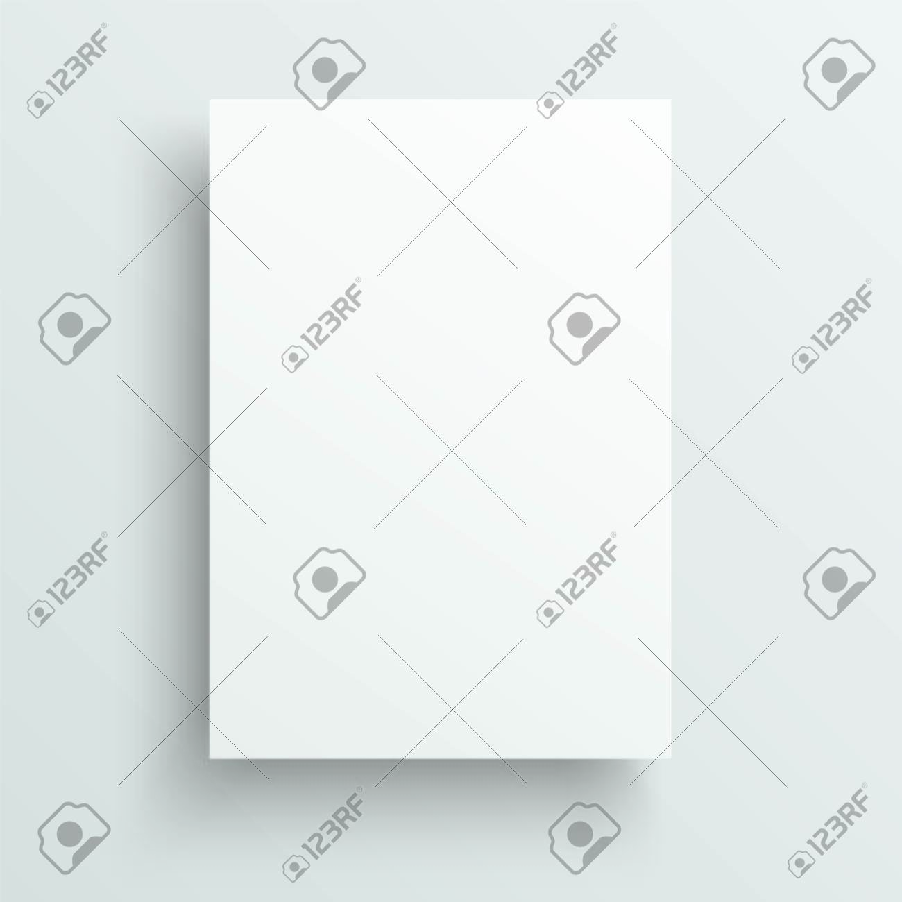 Empty sheet of paper template. Realistic vector background. - 124404893