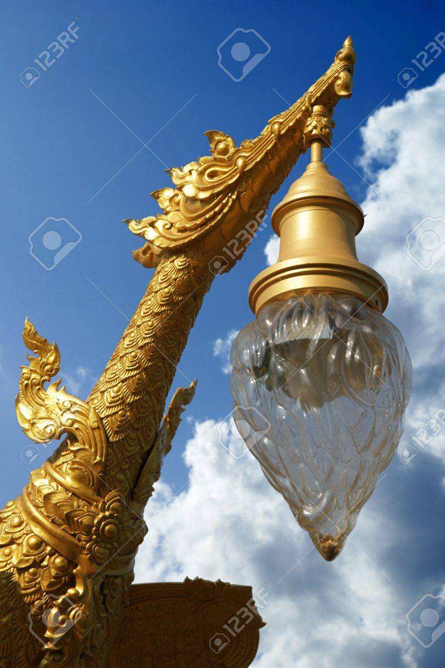 Golden bird lamp exists almost everywhere in Thailand Stock Photo - 19431518