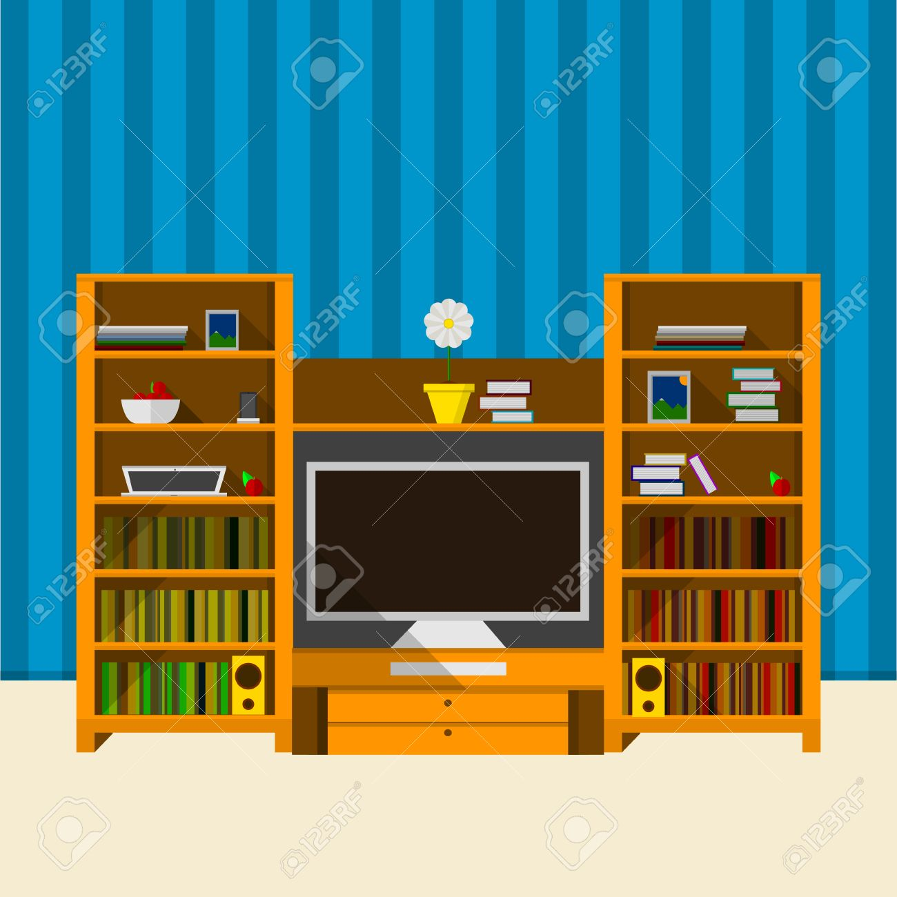 tv Set Wallpaper Striped Wallpaper tv Set