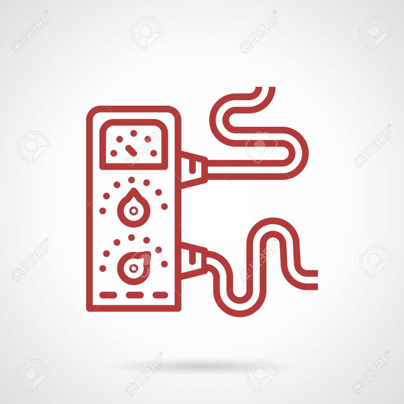 Einfache Rote Linie Vektor-Symbol Für Die Stromversorgung Ausrüstung ...
