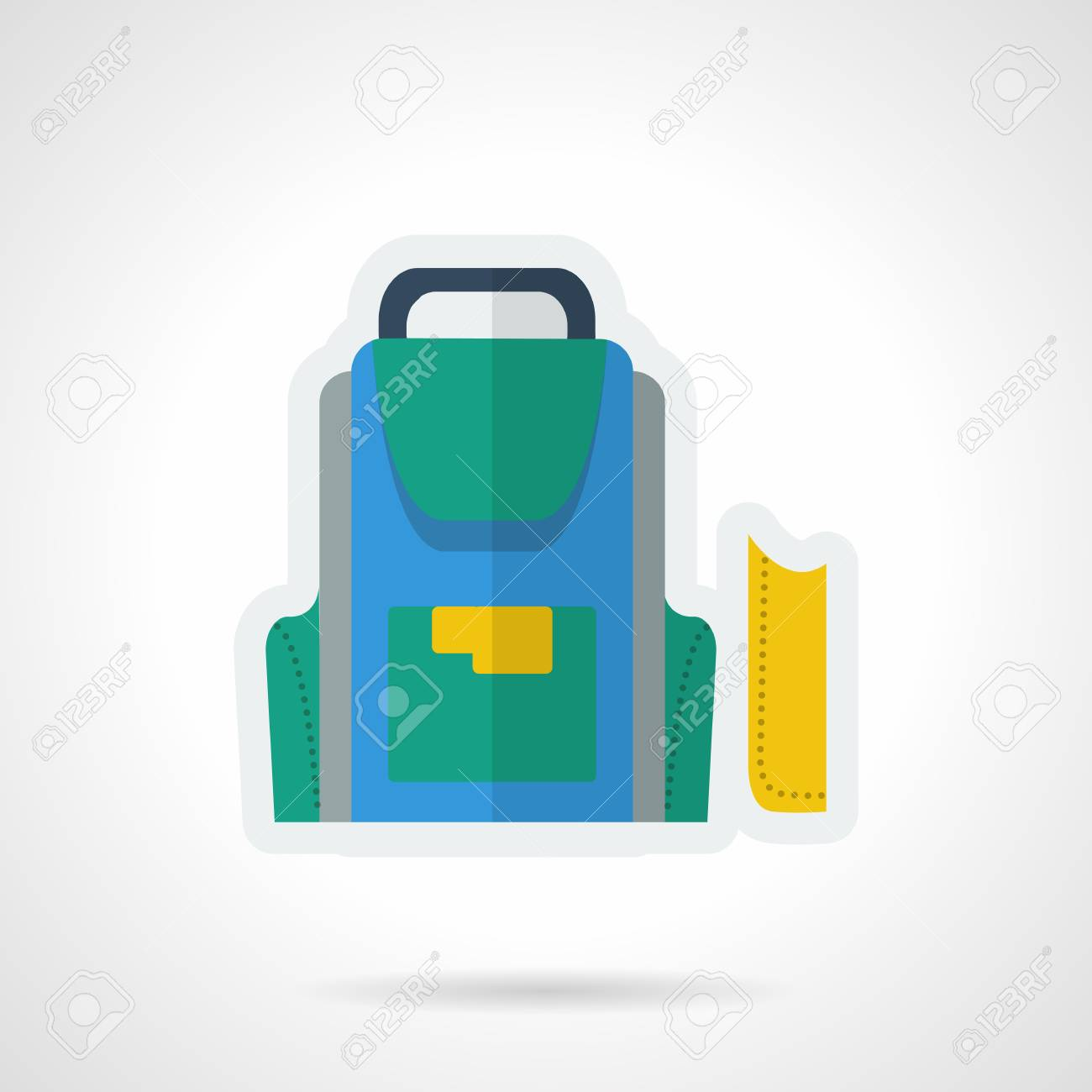 Flache Farbe Einfachen Vektor-Symbol Für Die Schule Zubehör Und ...