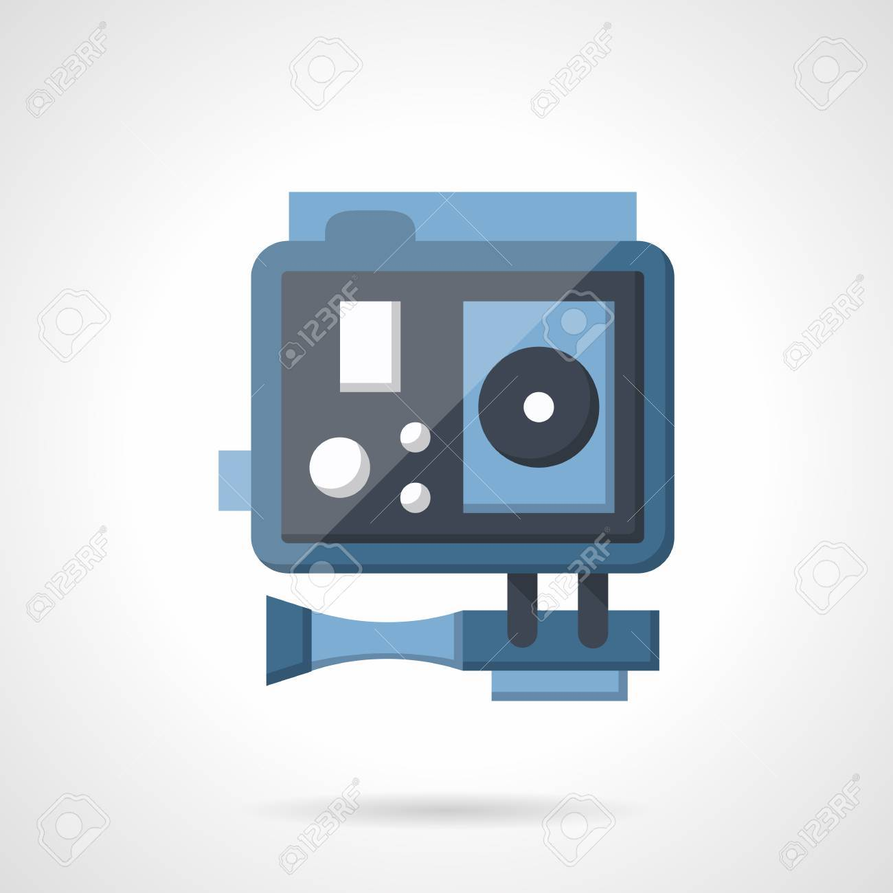 record video and movie blue action camera accessory for hobbies record video and movie blue action camera accessory for hobbies and professional flat