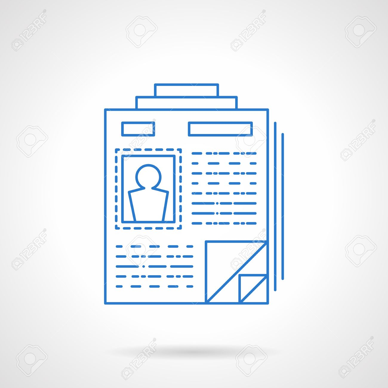 Personnel Resume Headhunting Symbol Document With Personal