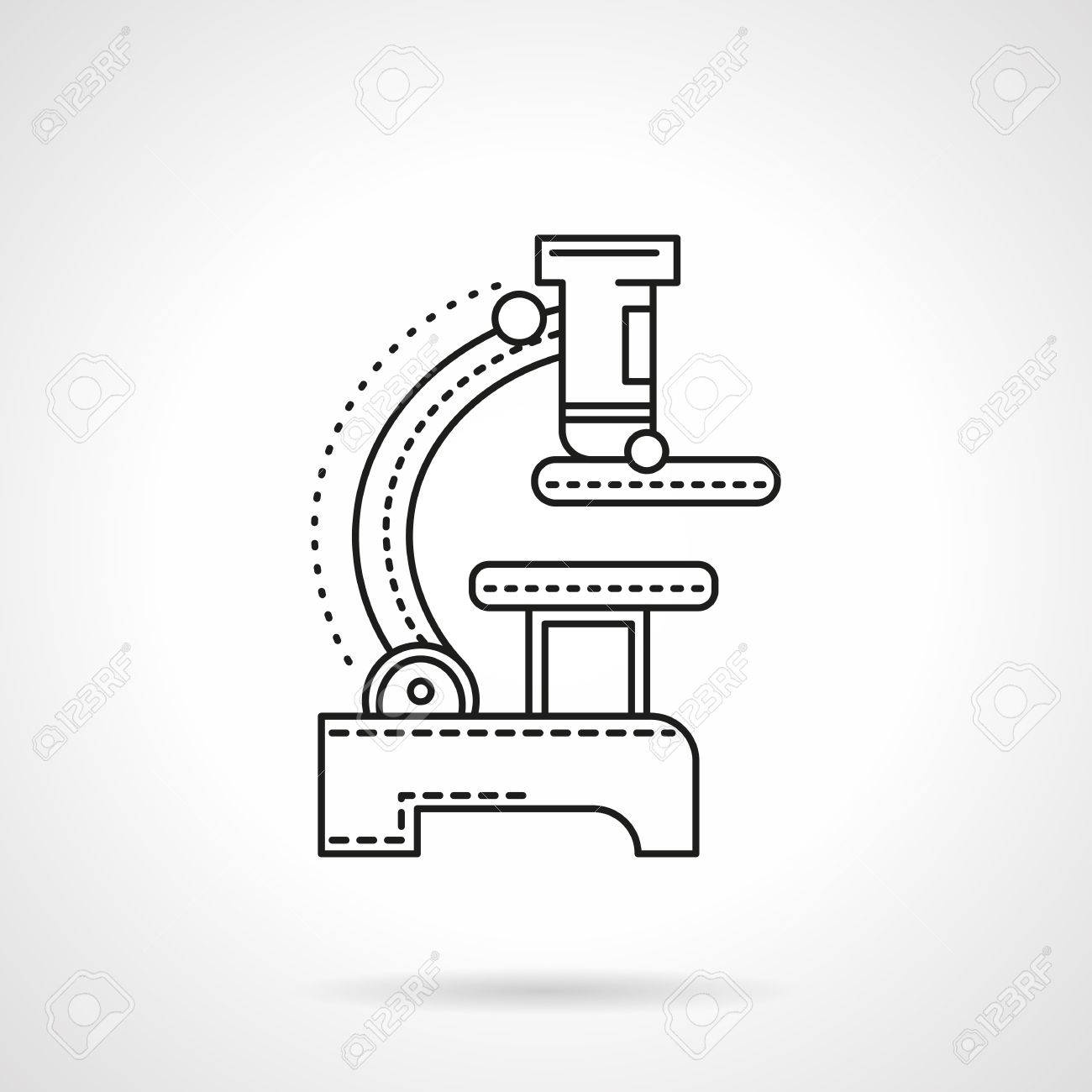 A side view of a microscope biology and medical equipment research biology and medical equipment research symbol flat biocorpaavc Choice Image