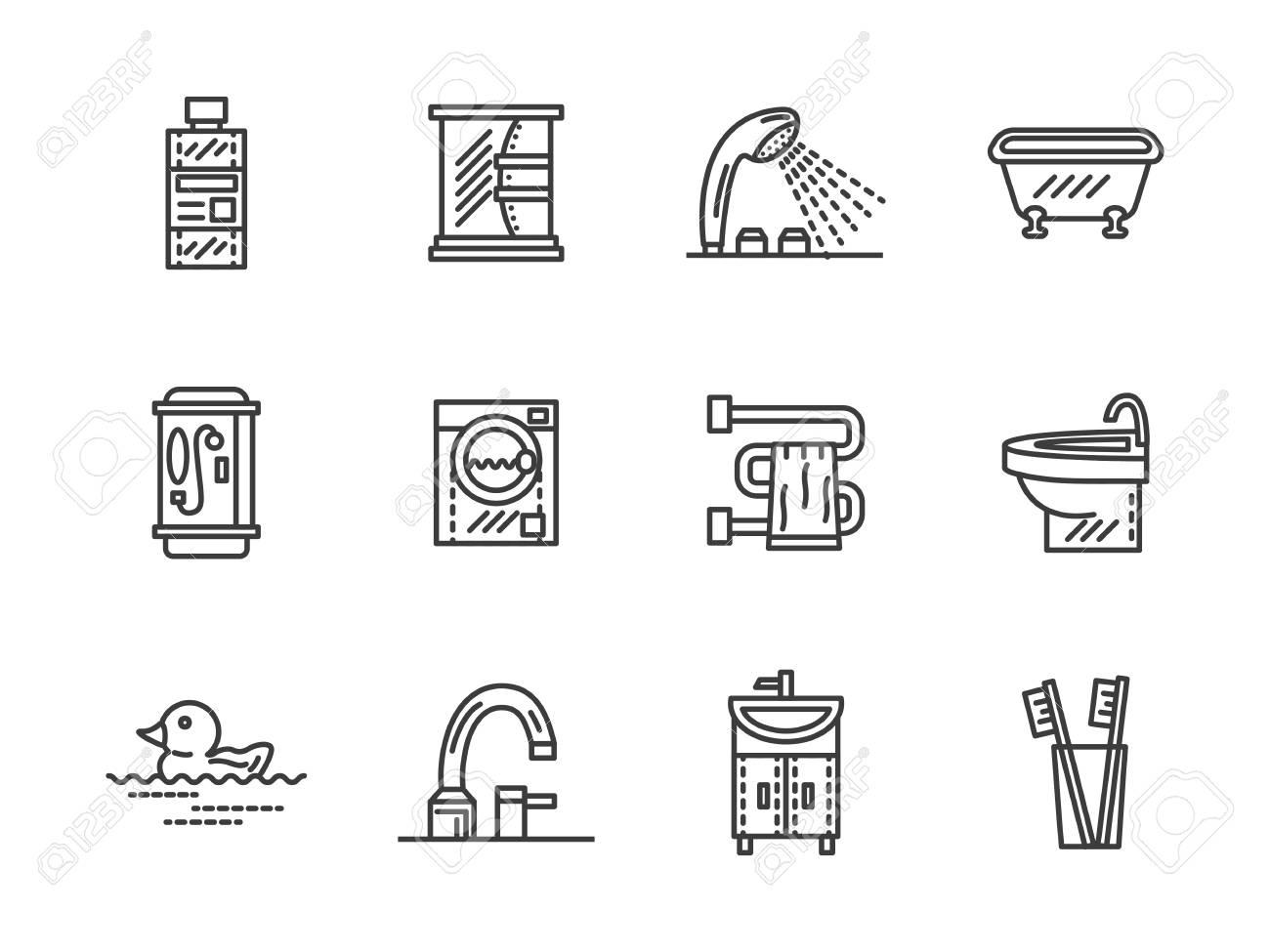 Accesorios Y Muebles De Baño. Entre Hogar Confortable. Baño, Cuarto ...