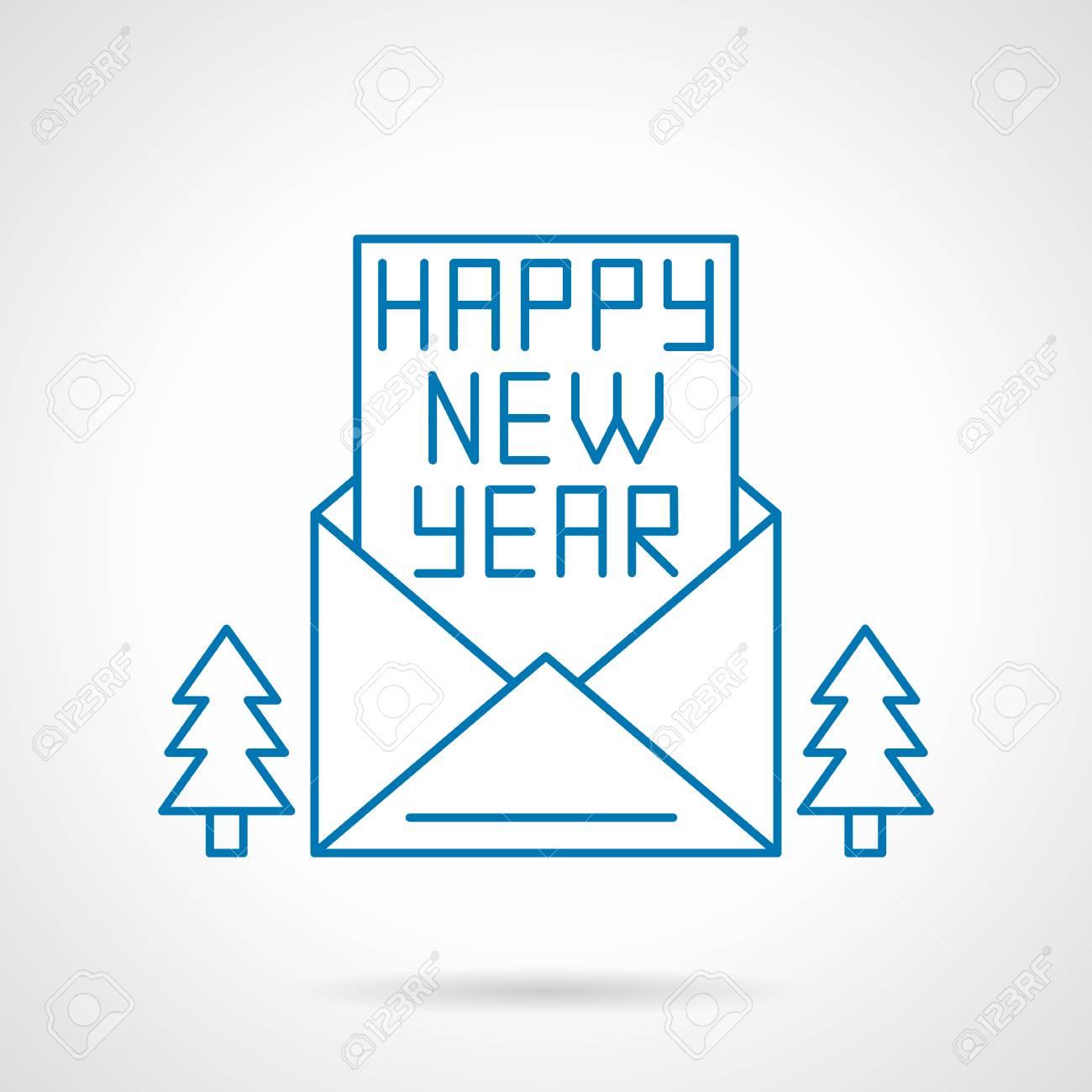 Guten Rutsch Ins Neue Jahr Brief Oder Eine Karte In Einer Öffnung ...