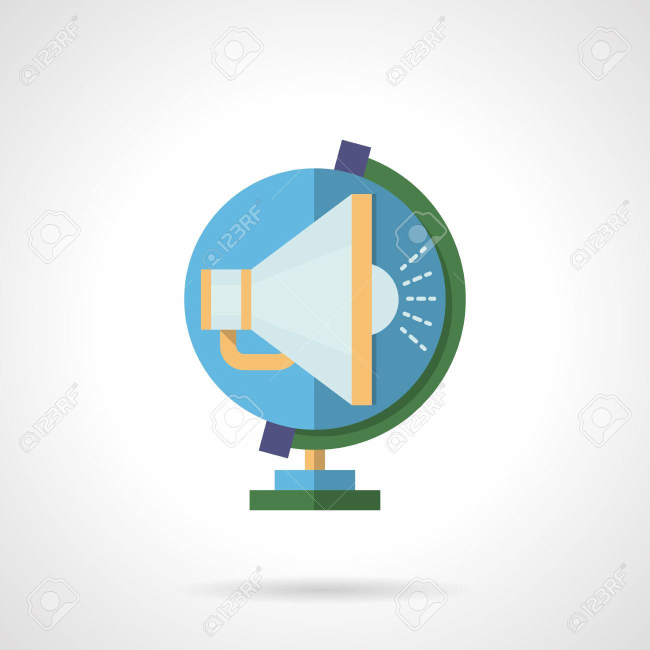 Global Marketing And Advertising Symbol Of Blue Color Globe