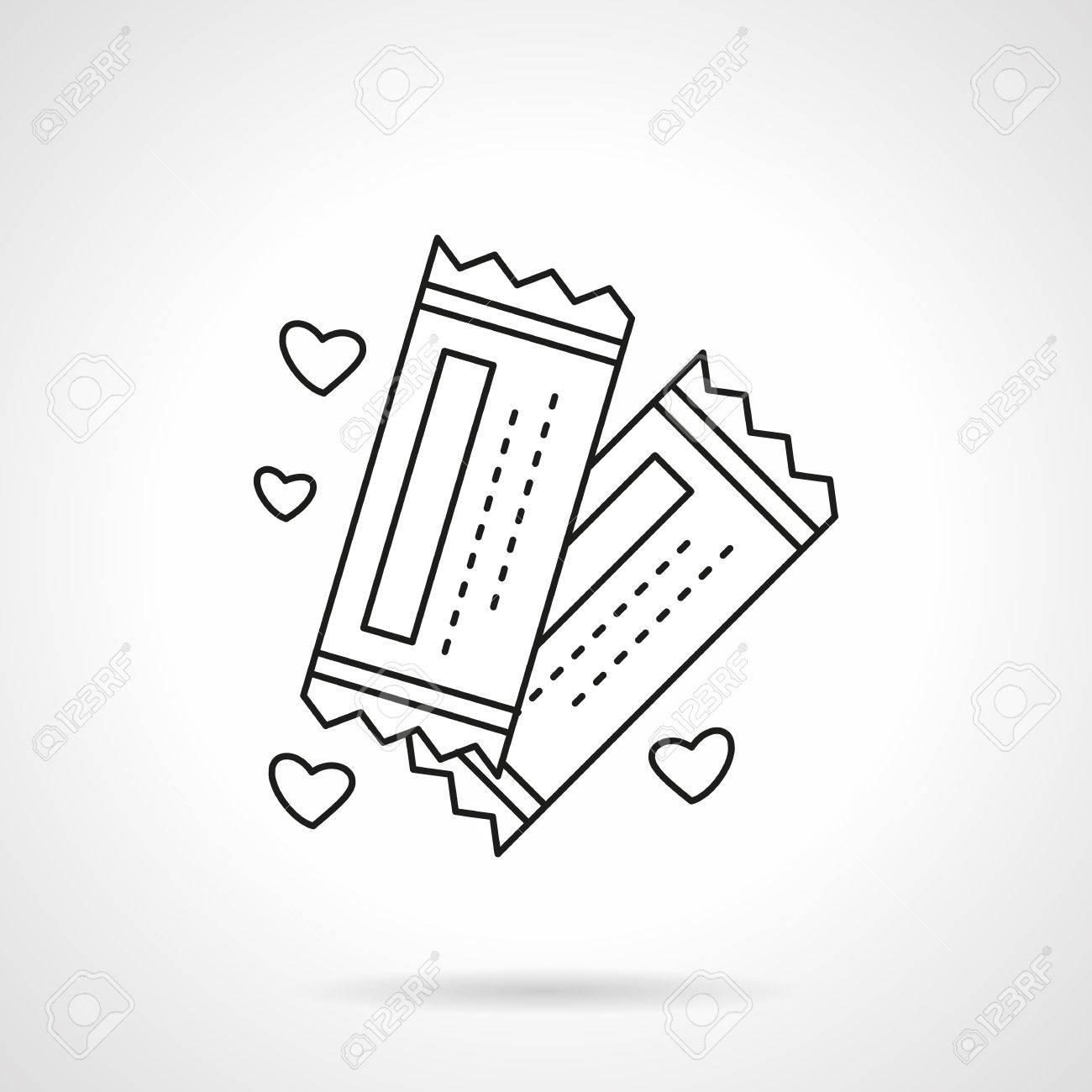 Tickets For Romantic Trip, Cinema, Theatre. Invitation For Wedding ...