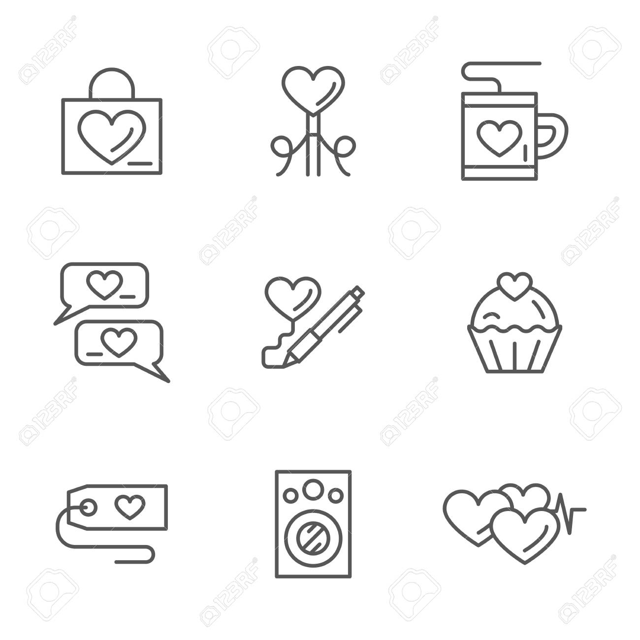 Love Using Symbols Clipart Library