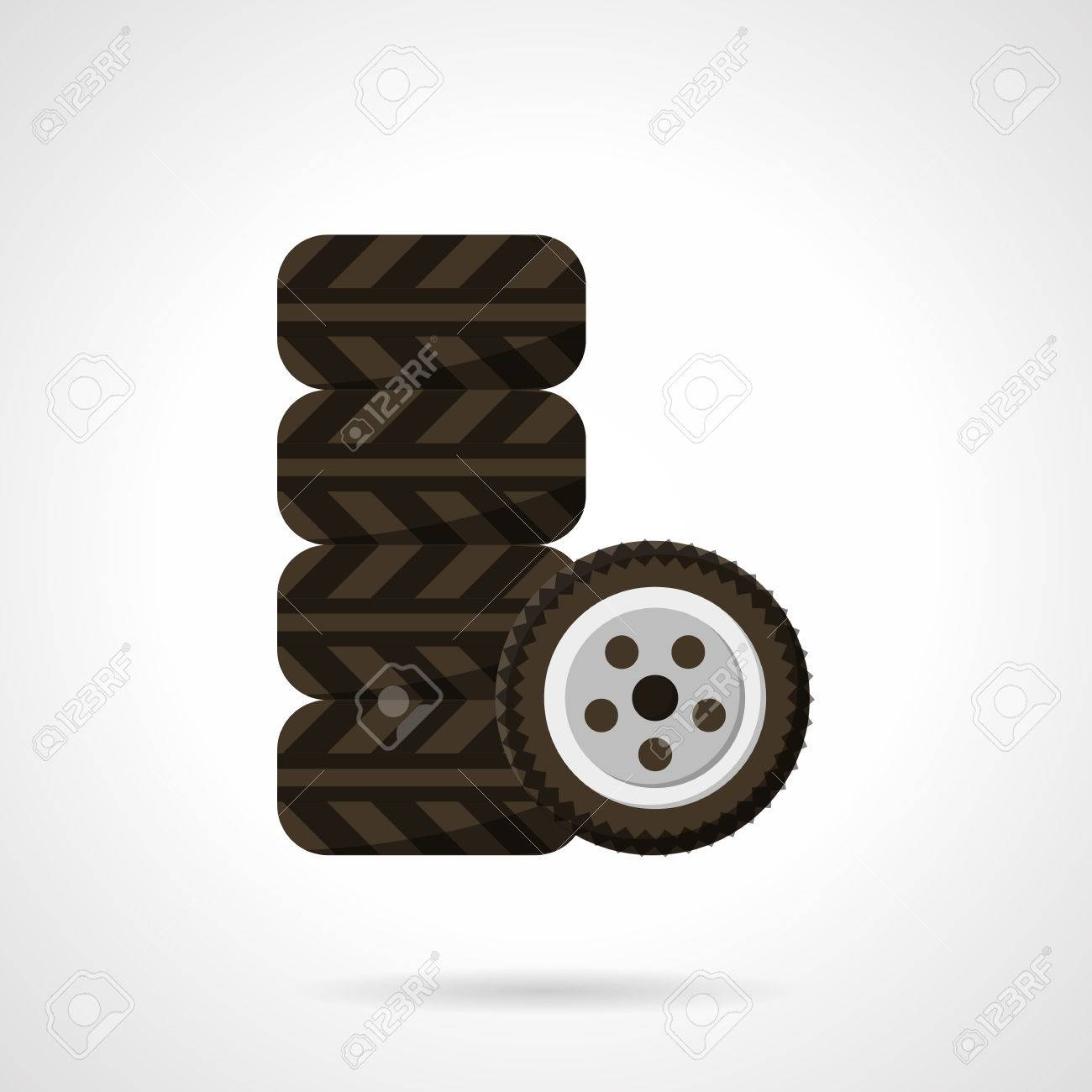 Car Tires Set. Garage Symbol. Tyre Car Service. Automobile Parts ...