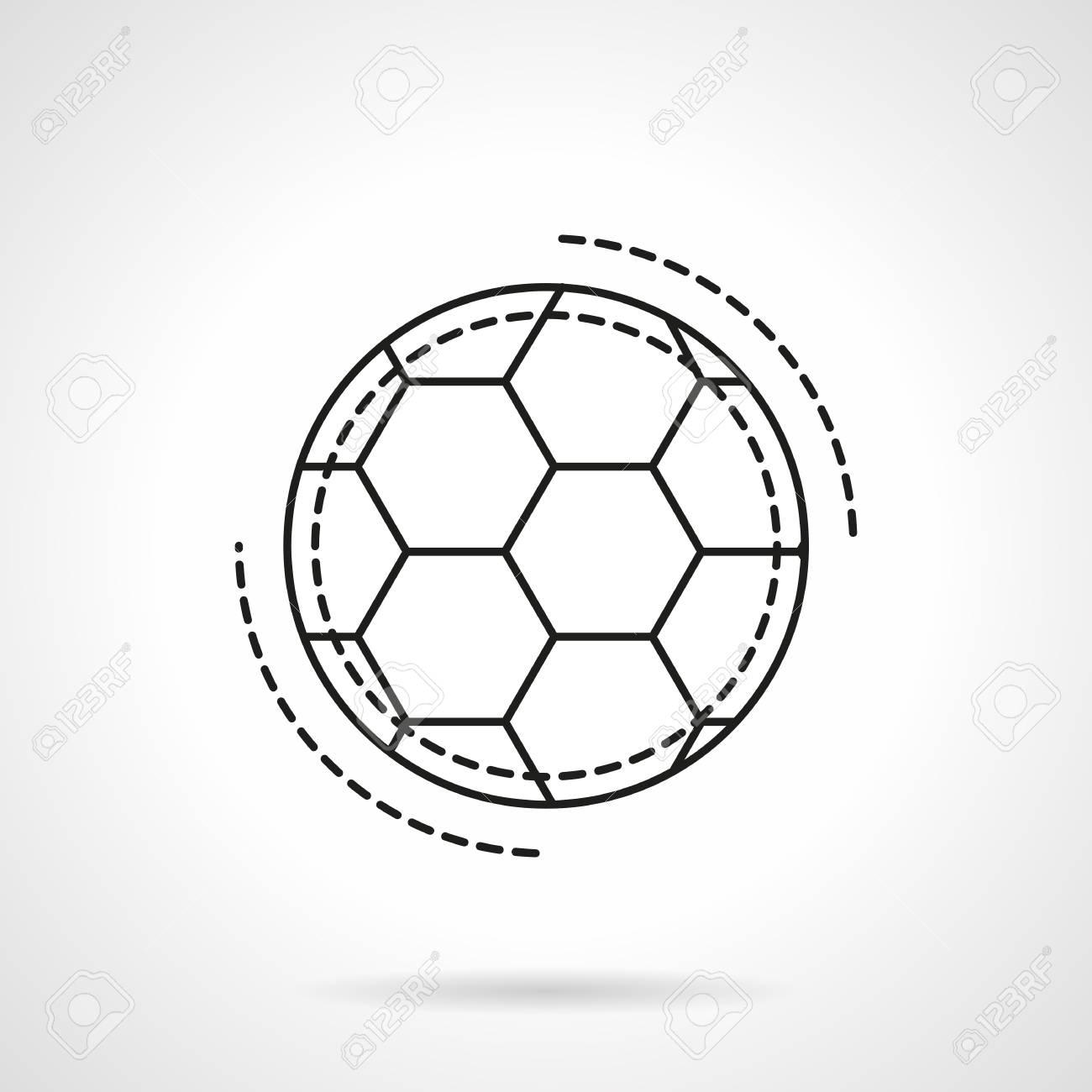 Football ou ballon de football. Accessoires et équipement de sport. Magasin de sport. Match de football. Icône de vecteur de style ligne plate.