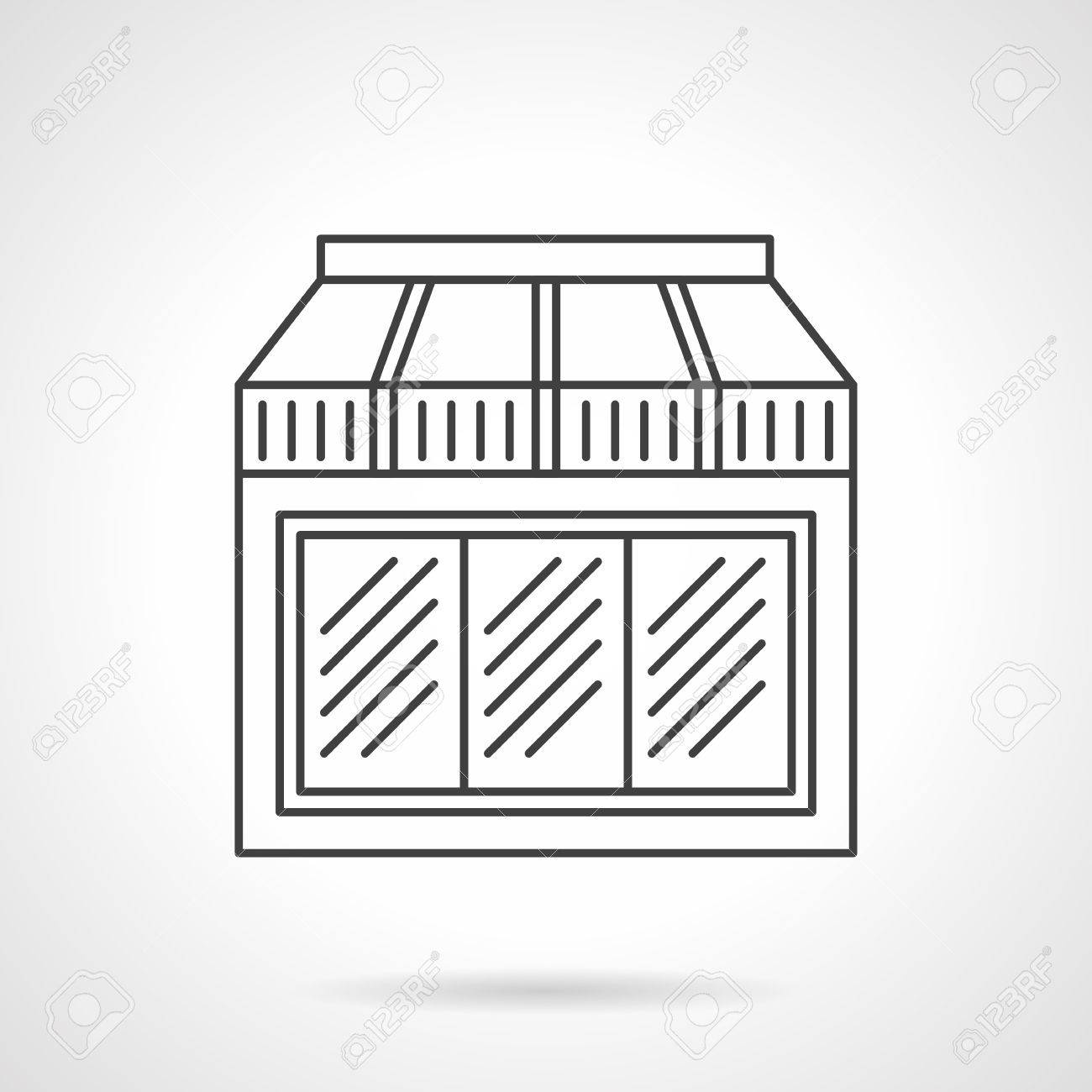 Exterior Window With Awning Facade Of Restaurant Cafe Or Store Royalty Free Cliparts Vectors And Stock Illustration Image 53356988