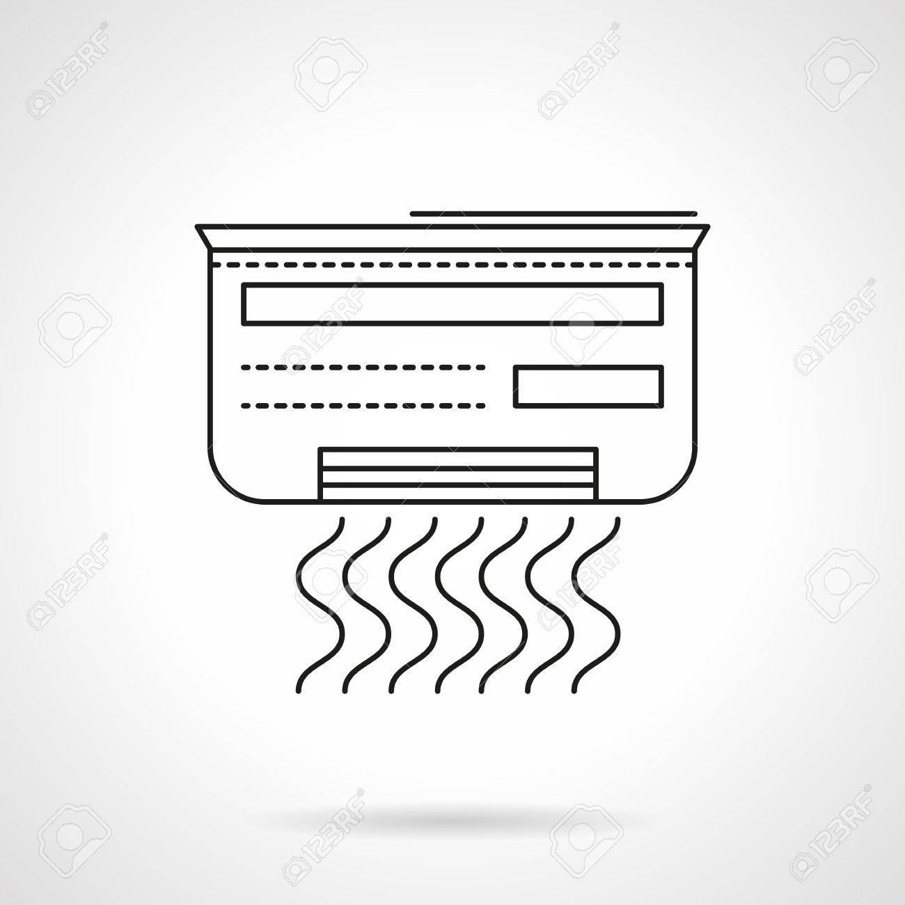 Klimaanlage Mit Dem Symbol Der Wellen Die Ausrüstung Für Ein