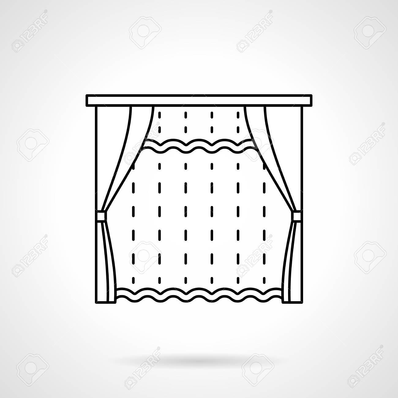 Fenetre De Chambre Avec Des Stores Et Tulle Rideau Decoration