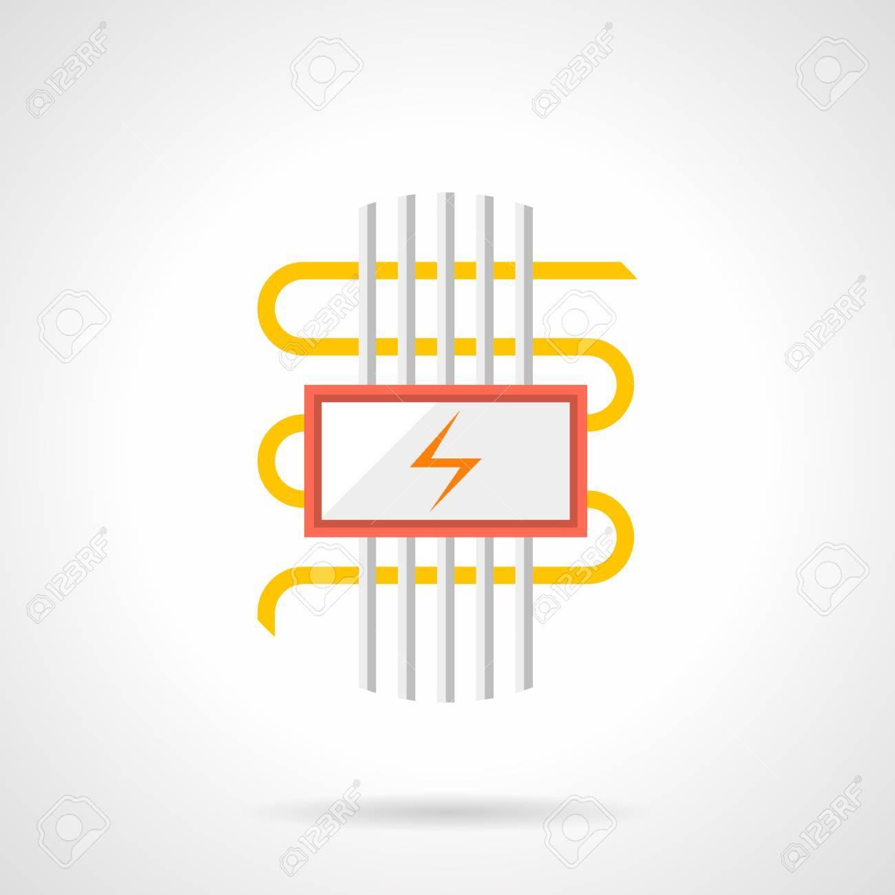 Fußbodenheizung Mit Elektrischen Komponenten. Kabel-Heizsystem Mit ...