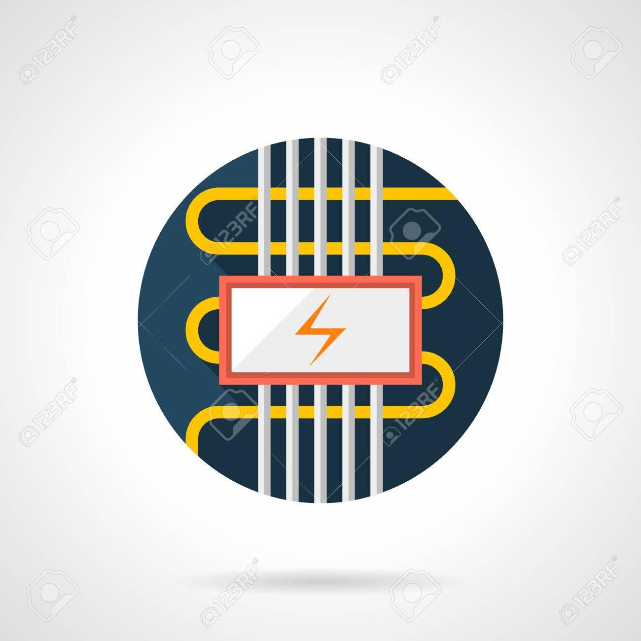 Kabel Elektrische Fußbodenheizung Symbol. Installieren Von Diensten ...