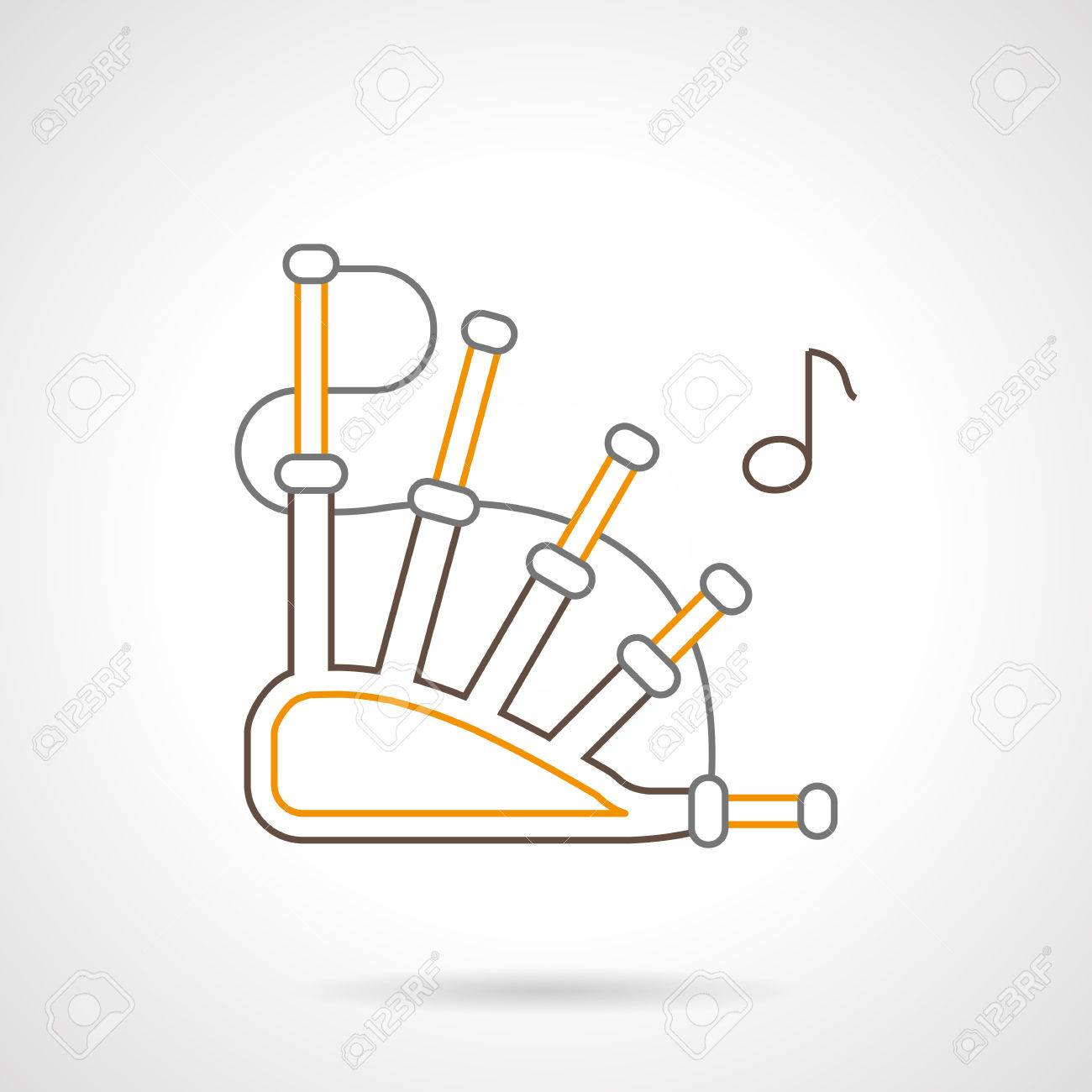 Symbol of traditional bagpipe and note reed wind musical instrument symbol of traditional bagpipe and note reed wind musical instrument web elements for music buycottarizona Image collections