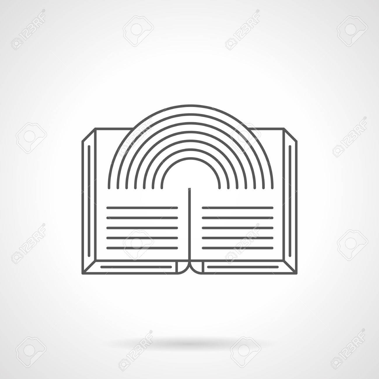 open magic book abstract rainbow sign for genres of open magic book abstract rainbow sign for genres of literature unusual fantasy stories