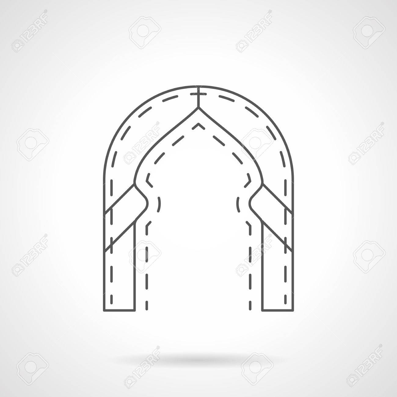 architectural arch in traditional oriental style  door and entrance  decorations in building  historical constructions
