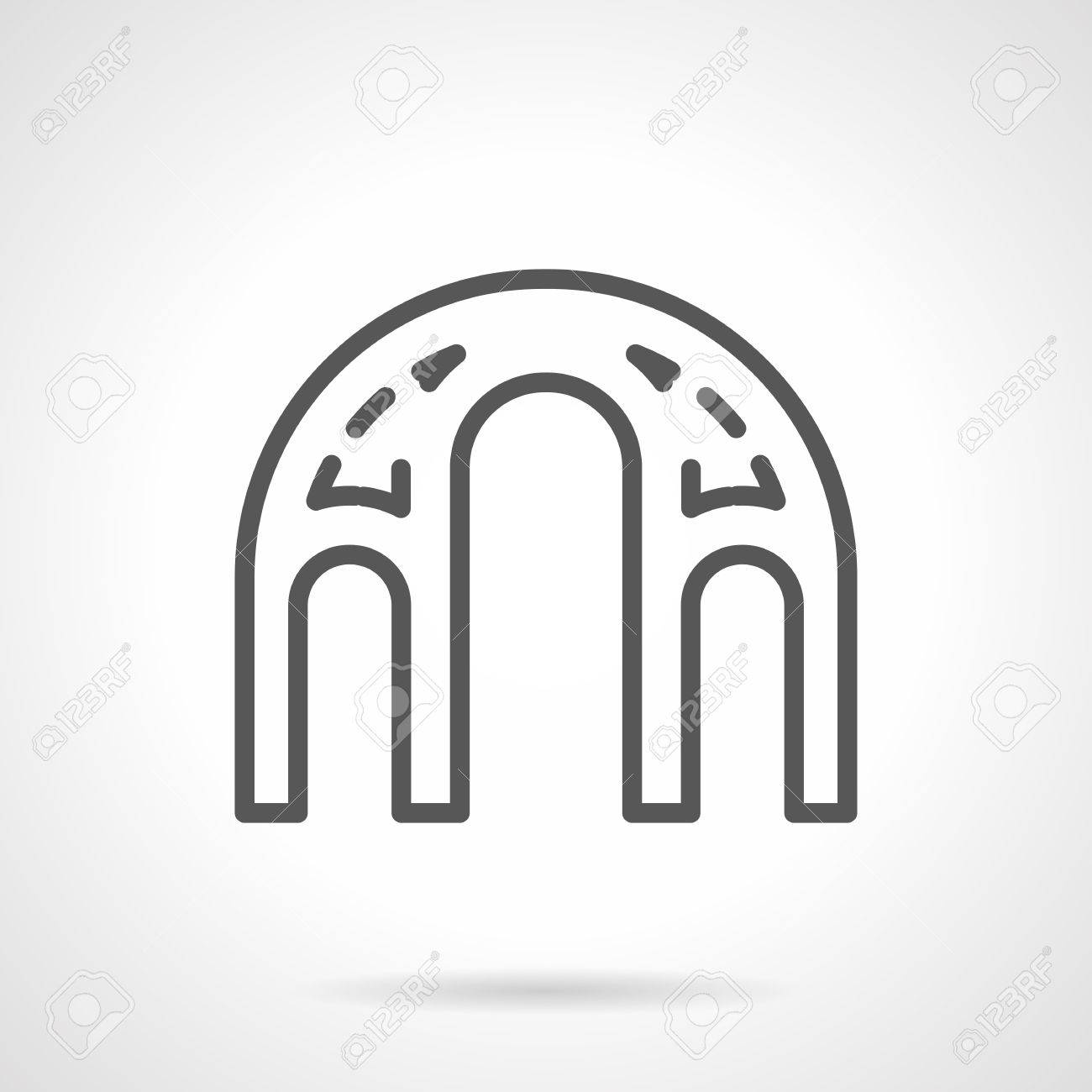 Architectural Element With Connection Of Round Arches Decorative