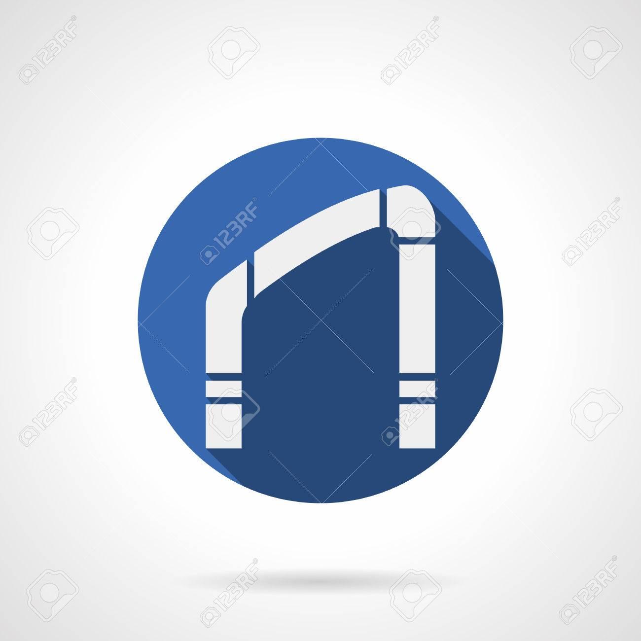 Standard Bild   Weißes Schattenbild Schild Des Schrägen Bogens  Architektonisches Element Für Innendekoration Muster Des Modernen Und  Klassischen Rahmens.