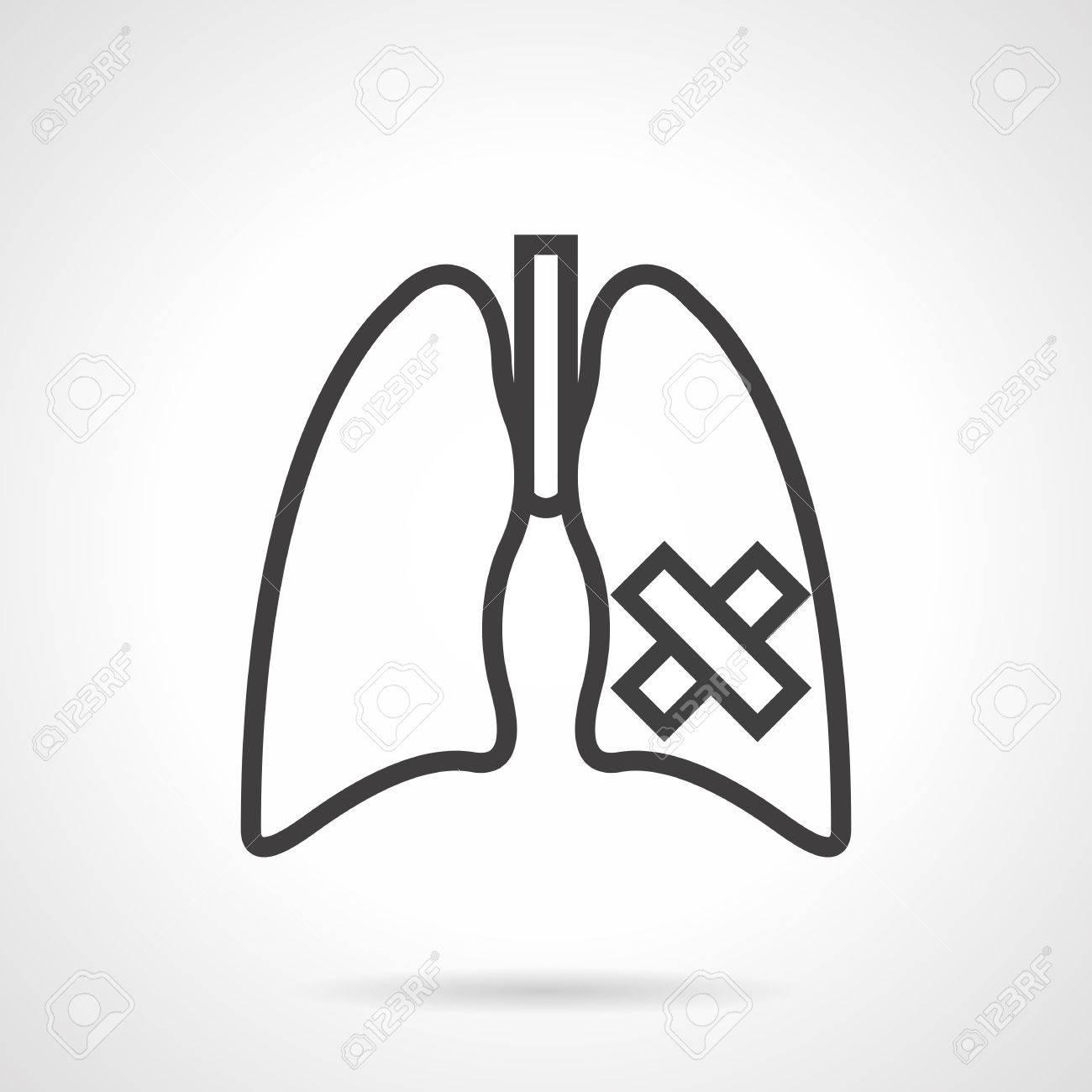 Symbol Der Lungenkrankheit - Krebs, Tuberkulose, Lungenentzündung ...