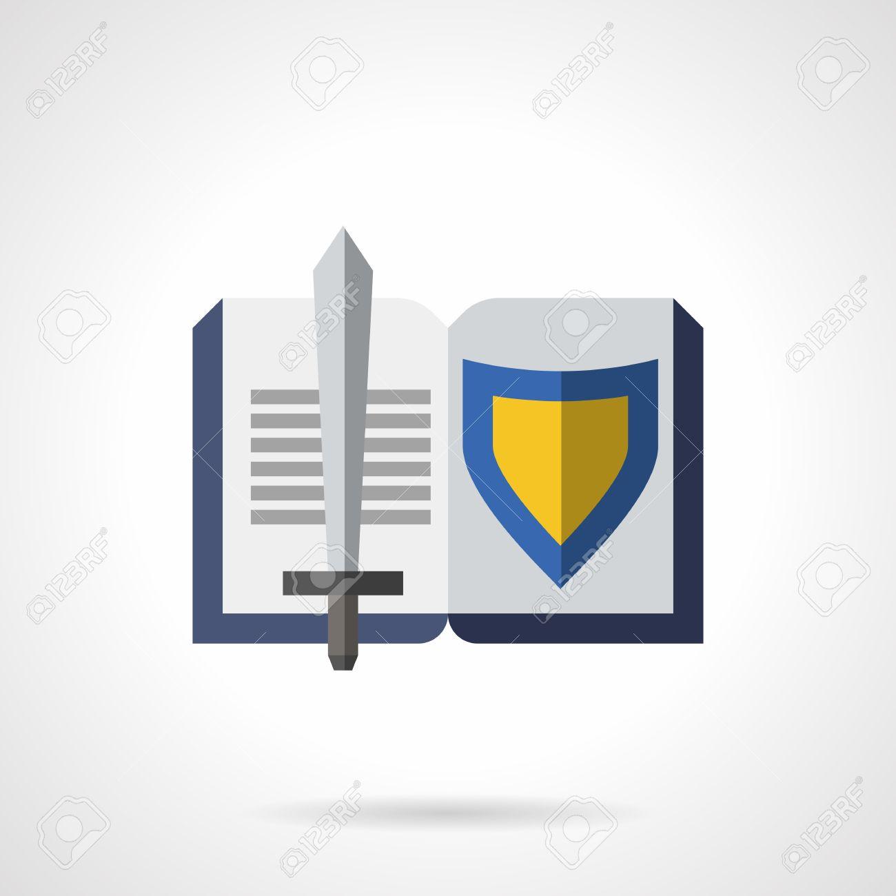 literature genres symbol open book sword and blue and yellow literature genres symbol open book sword and blue and yellow shield historical fiction
