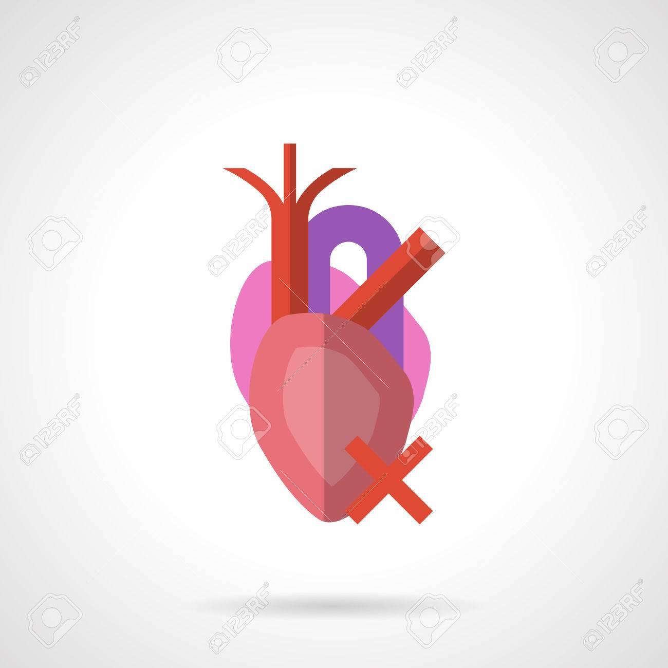 Anatomische Herz Mit Venen Und Arterien. Medizin Und Kardiologie ...